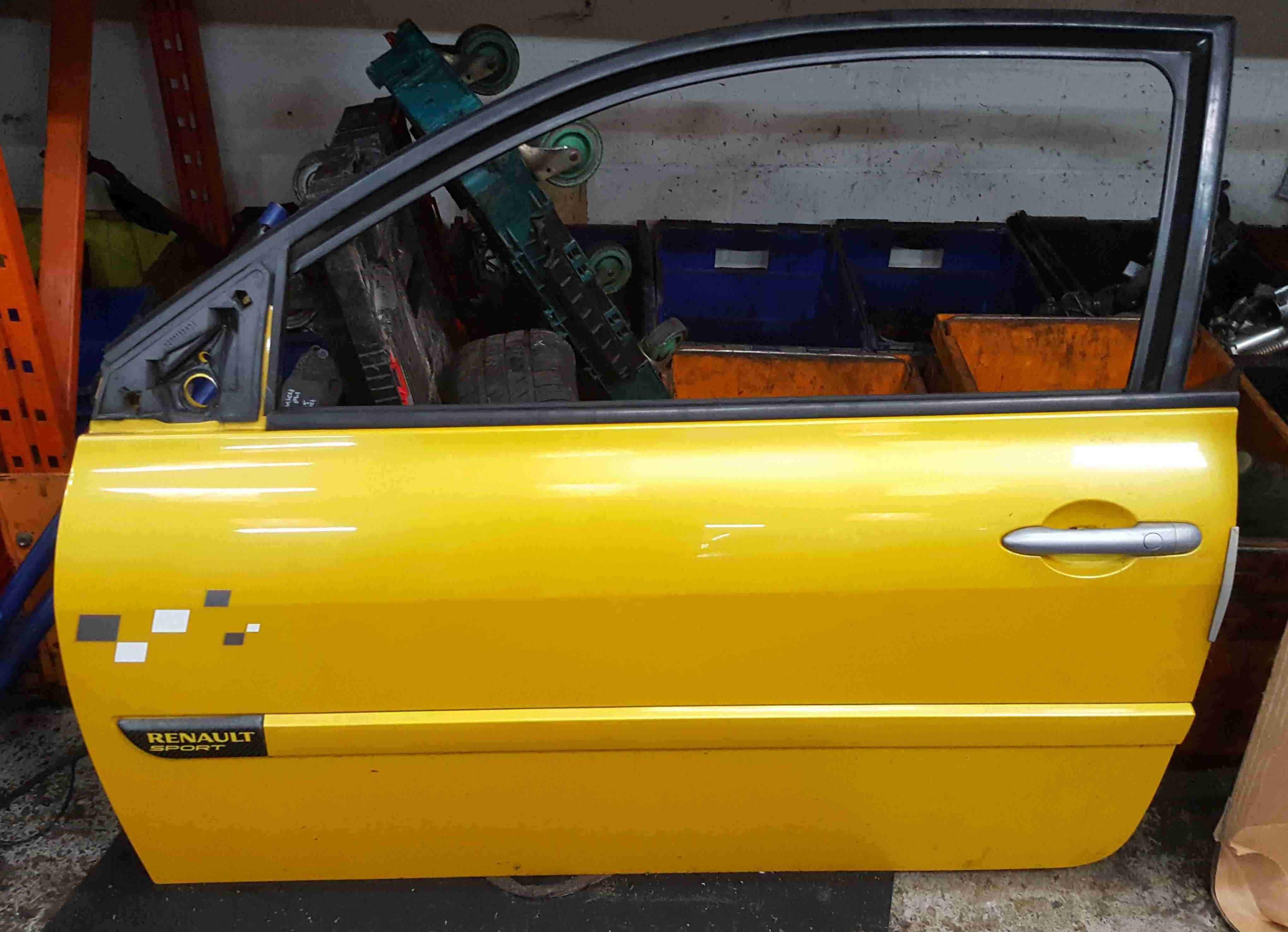 Renault Megane 2002-2008 230 Passenger NSF Front Door Liquid Yellow TEJ37 3dr