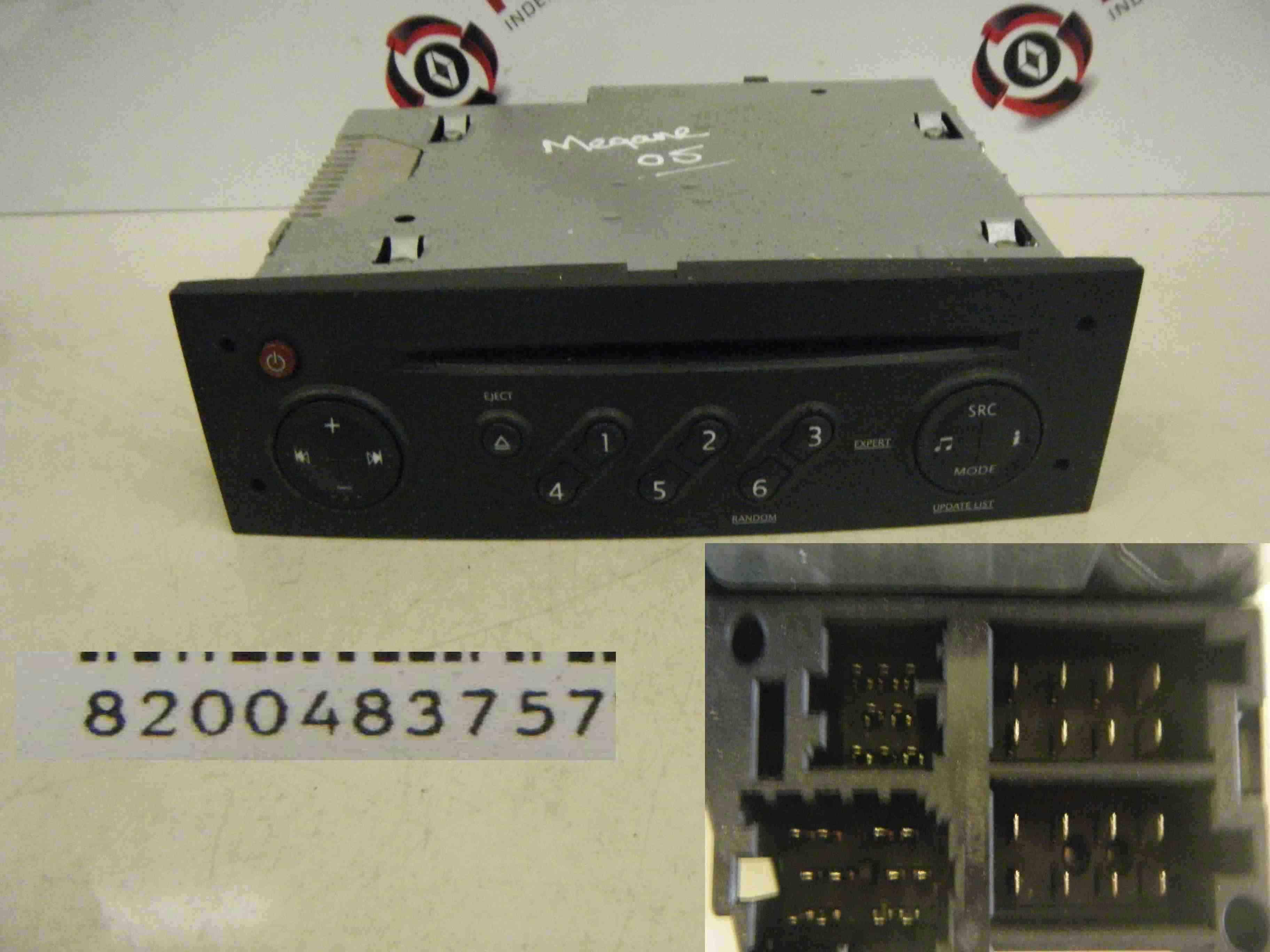 renault megane 2002 2008 cd player update list radio 8200483757 code ebay. Black Bedroom Furniture Sets. Home Design Ideas