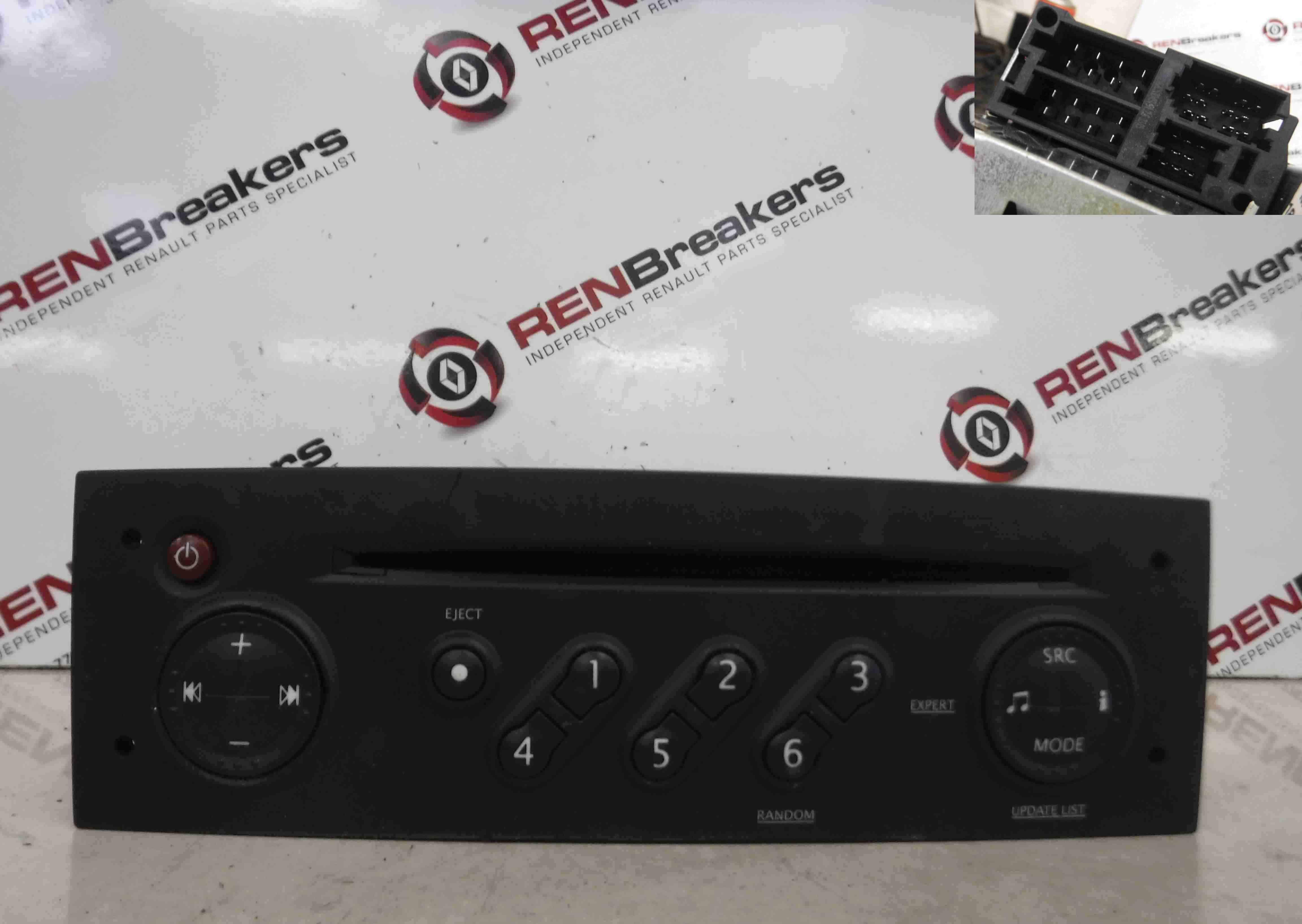 Renault Megane 2002-2008 Radio Cd Player Update List +  Code 8200483757