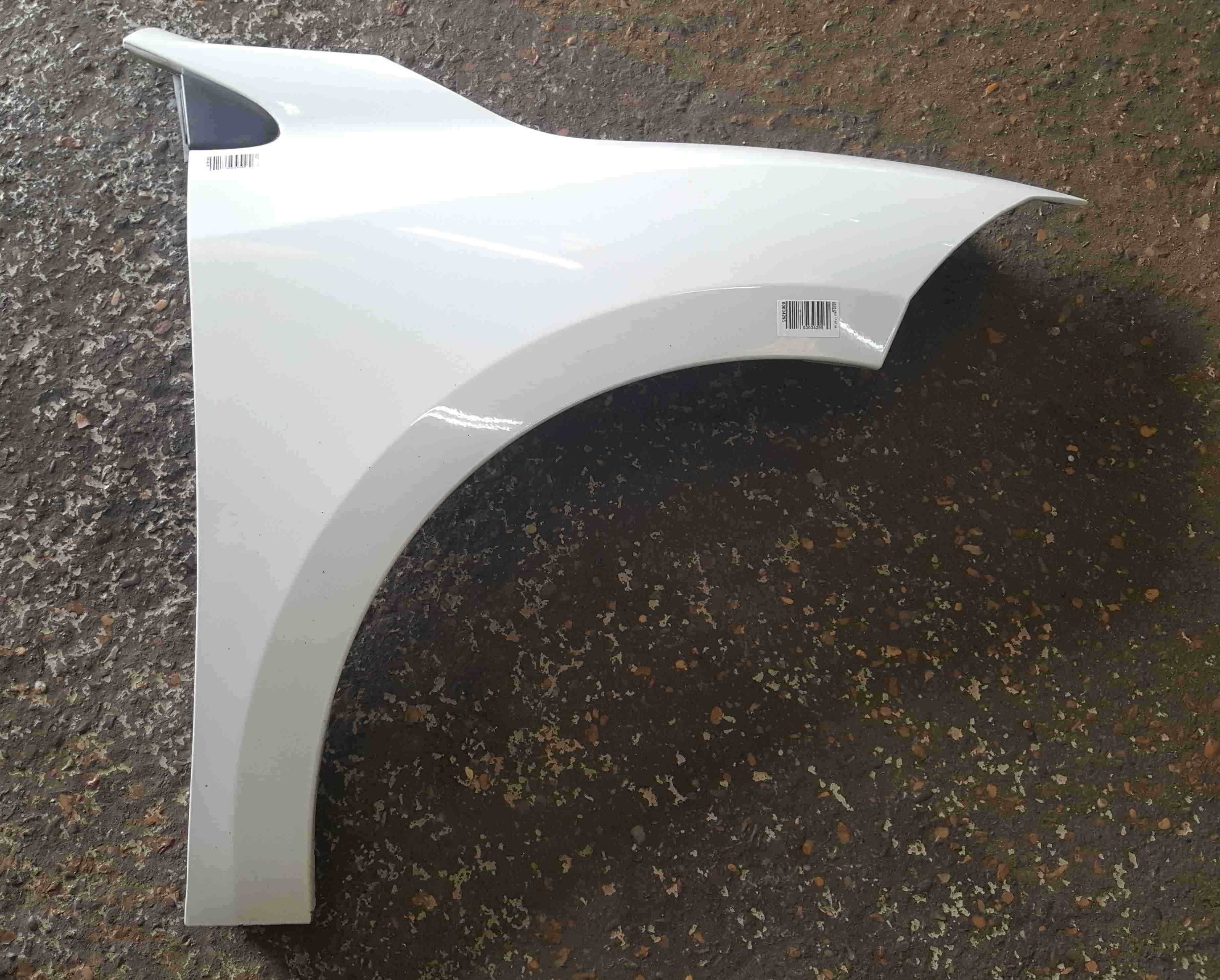 Renault Megane Coupe MK3 2008-2014 Drivers OS Wing White OV369