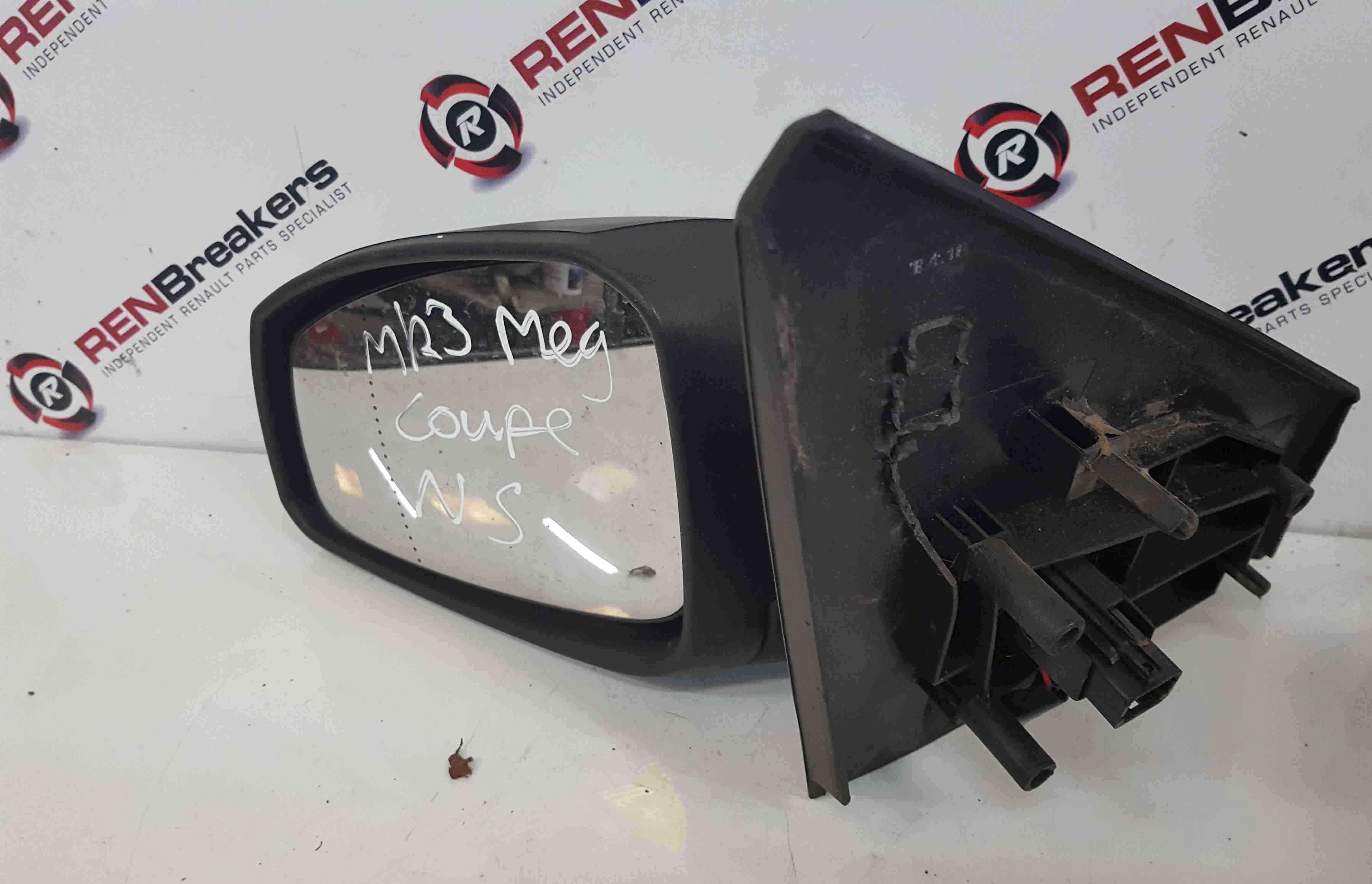 Renault Megane Coupe MK3 2008-2014 Passenger NS Wing Mirror Plain Electric
