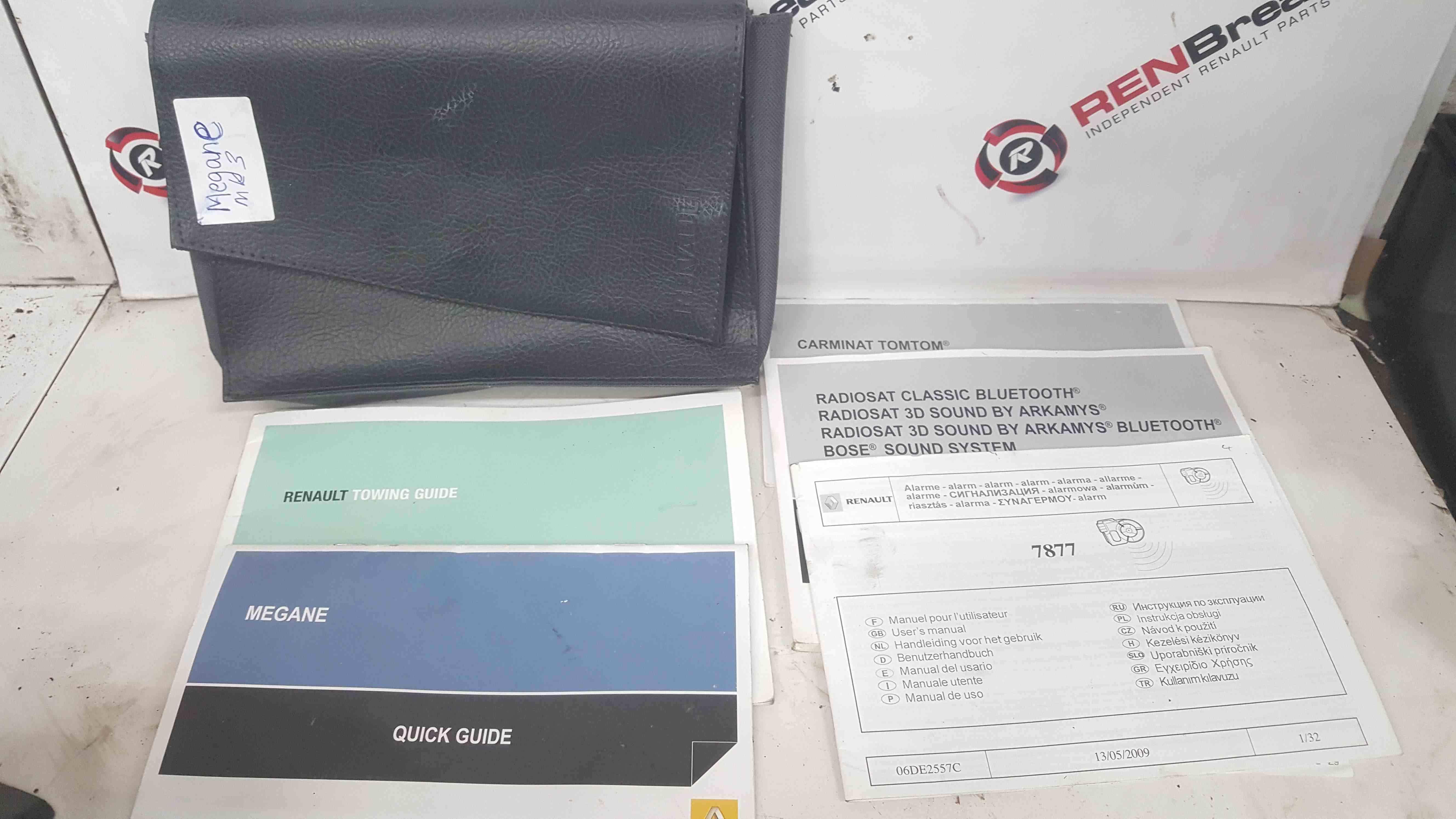 Renault Megane MK3 2008-2012 Handbook Documents Wallet