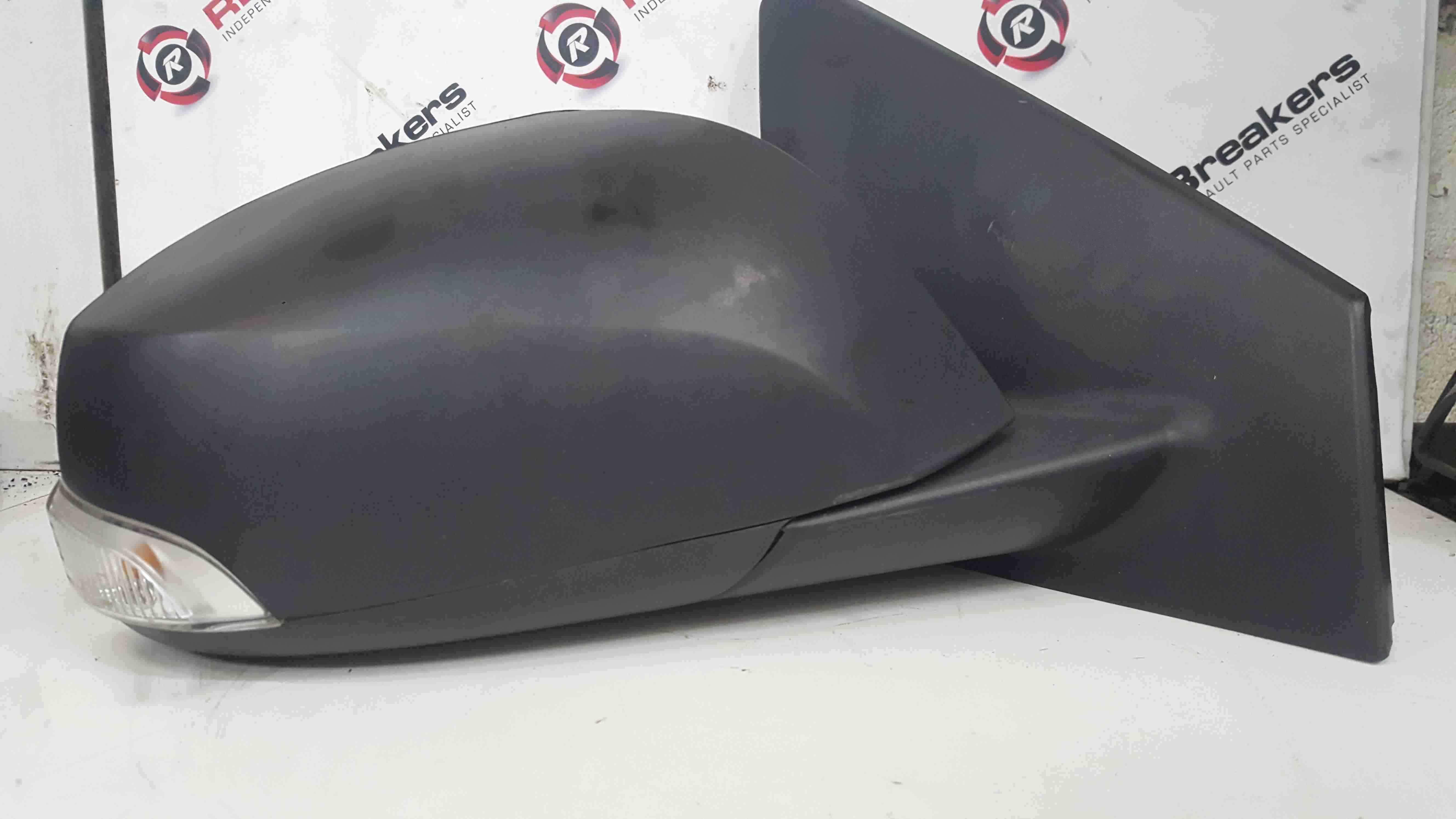 Renault Megane MK3 2008-2014 Drivers OS Wing Mirror Plain Black