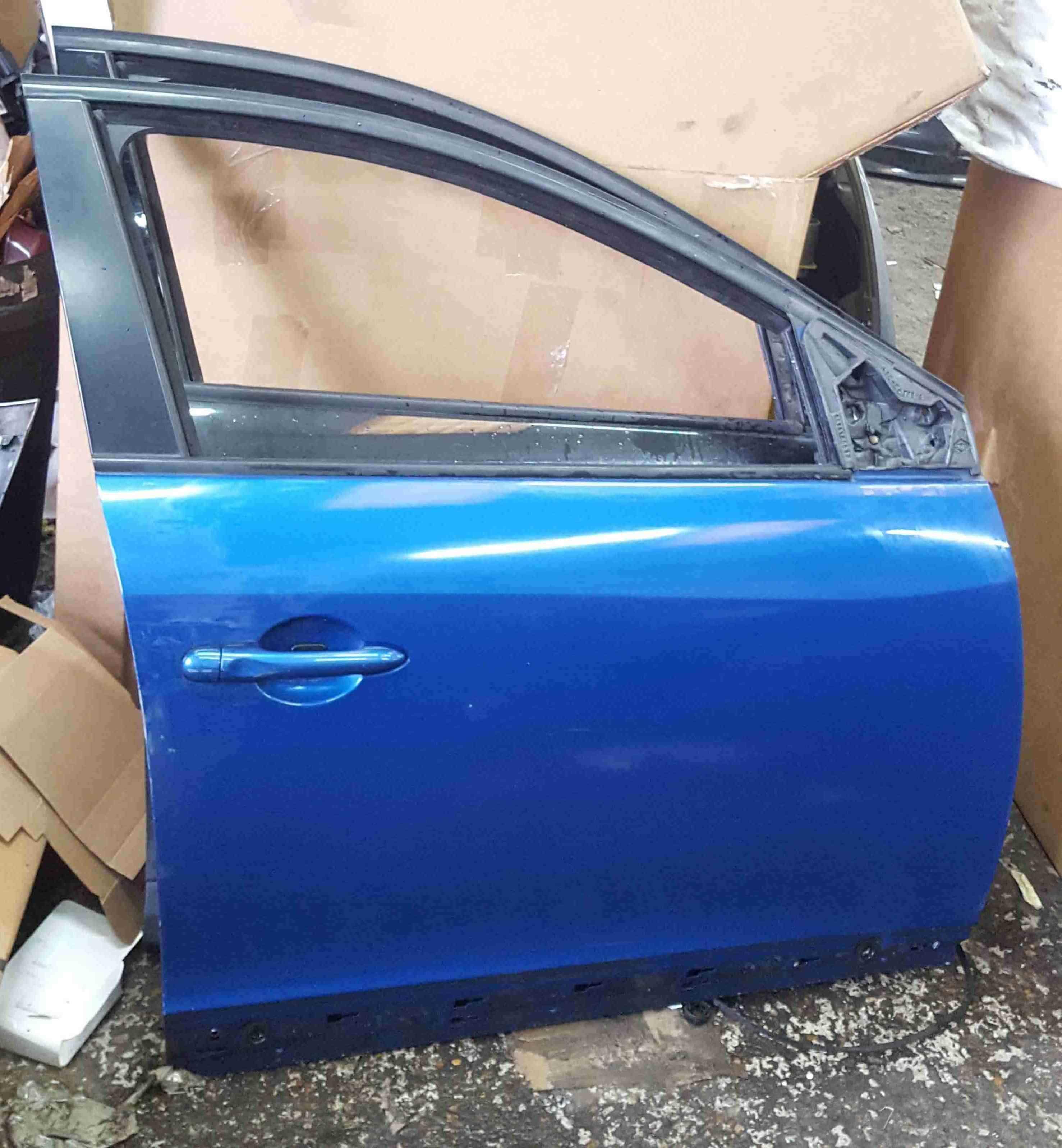 Renault Megane MK3 2008-2014 Drivers OSF Front Door Blue TERNA 5dr