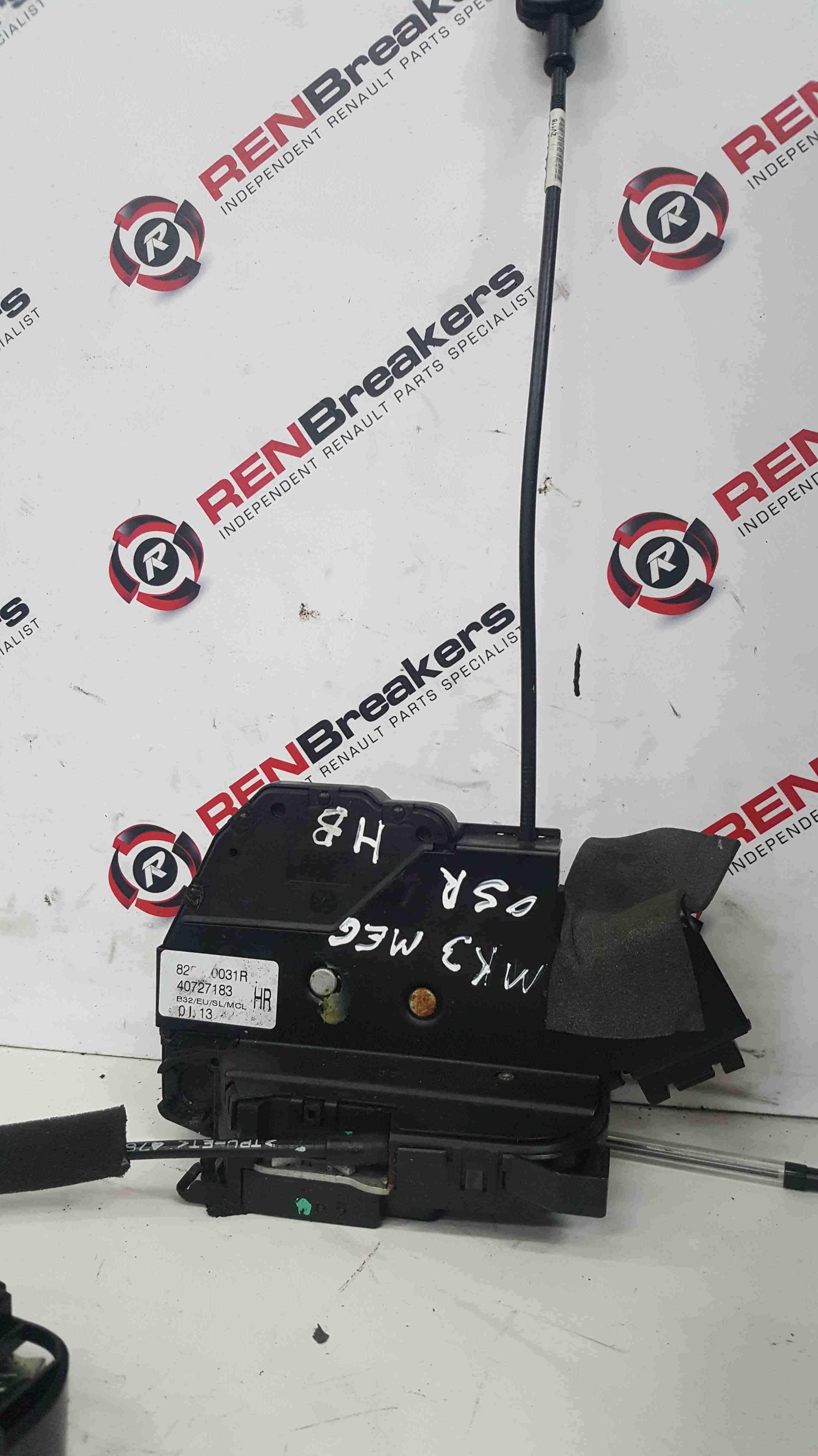 Renault Megane MK3 2008-2014 Drivers OSR Rear Door Lock Mechanism