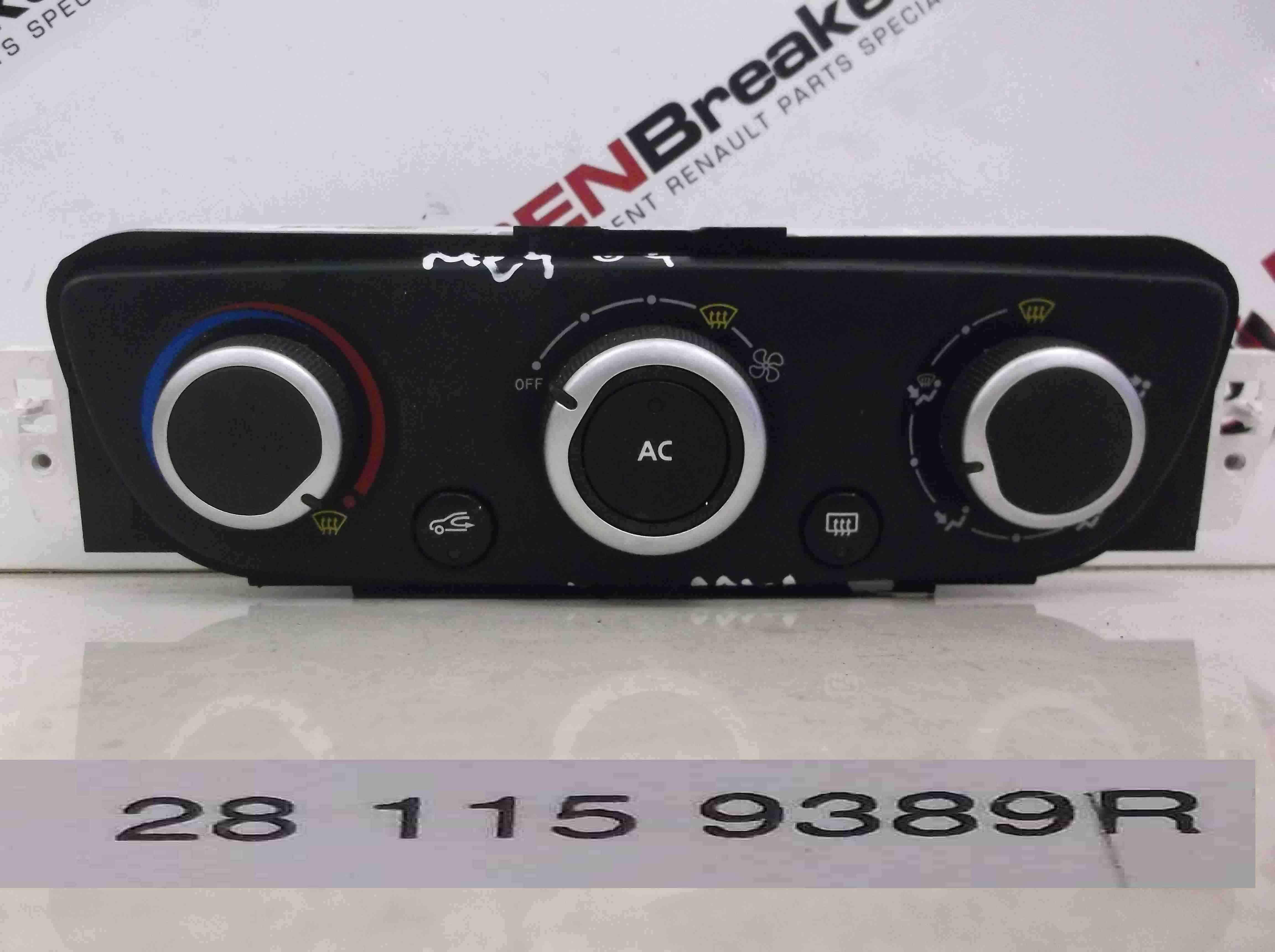 Renault Megane MK3 20082014 Heater Controls Dials Air Con T1001786G