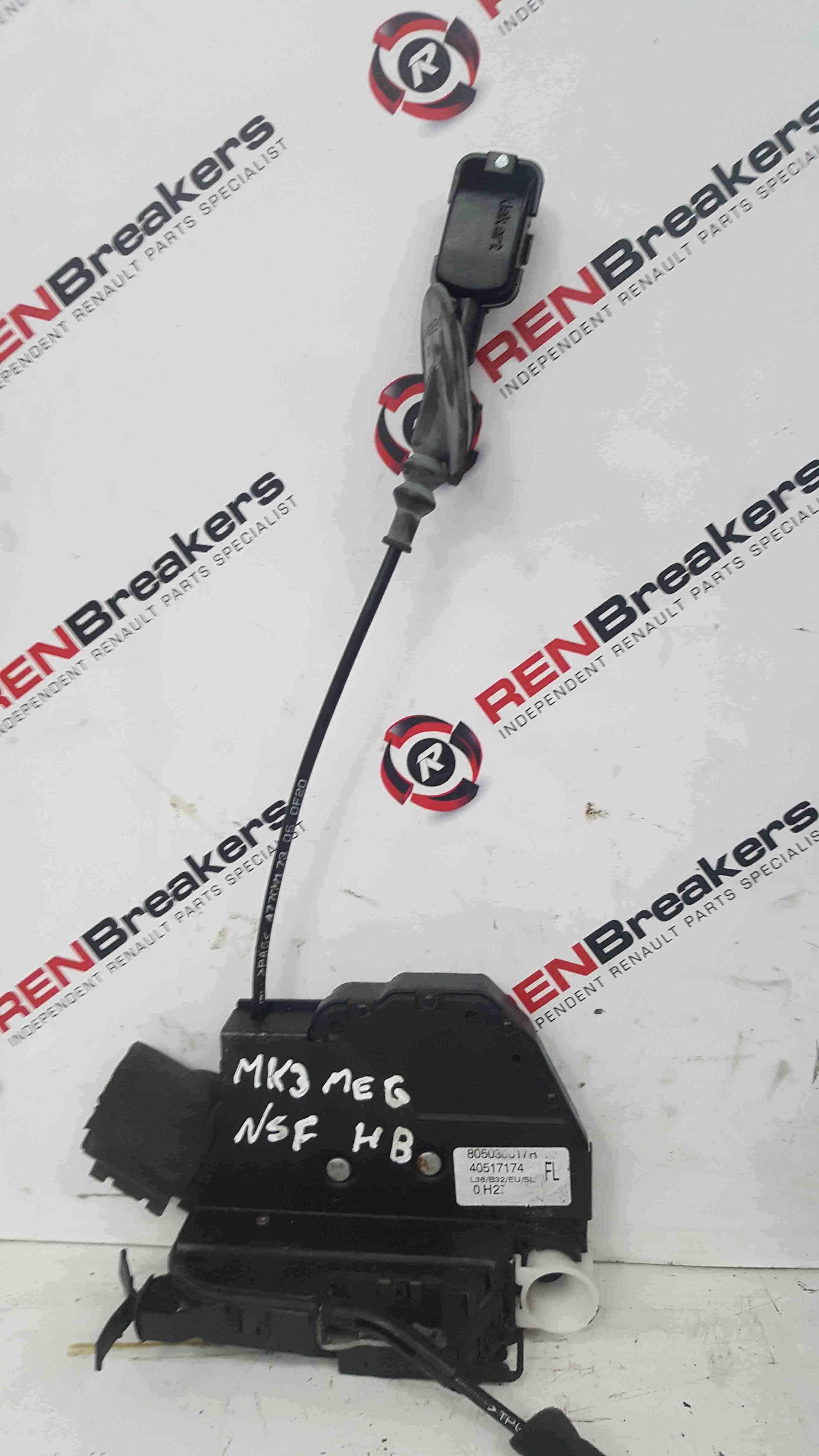Renault Megane MK3 2008-2014 Passenger NSF Front Door Lock Mechanism 805030017R