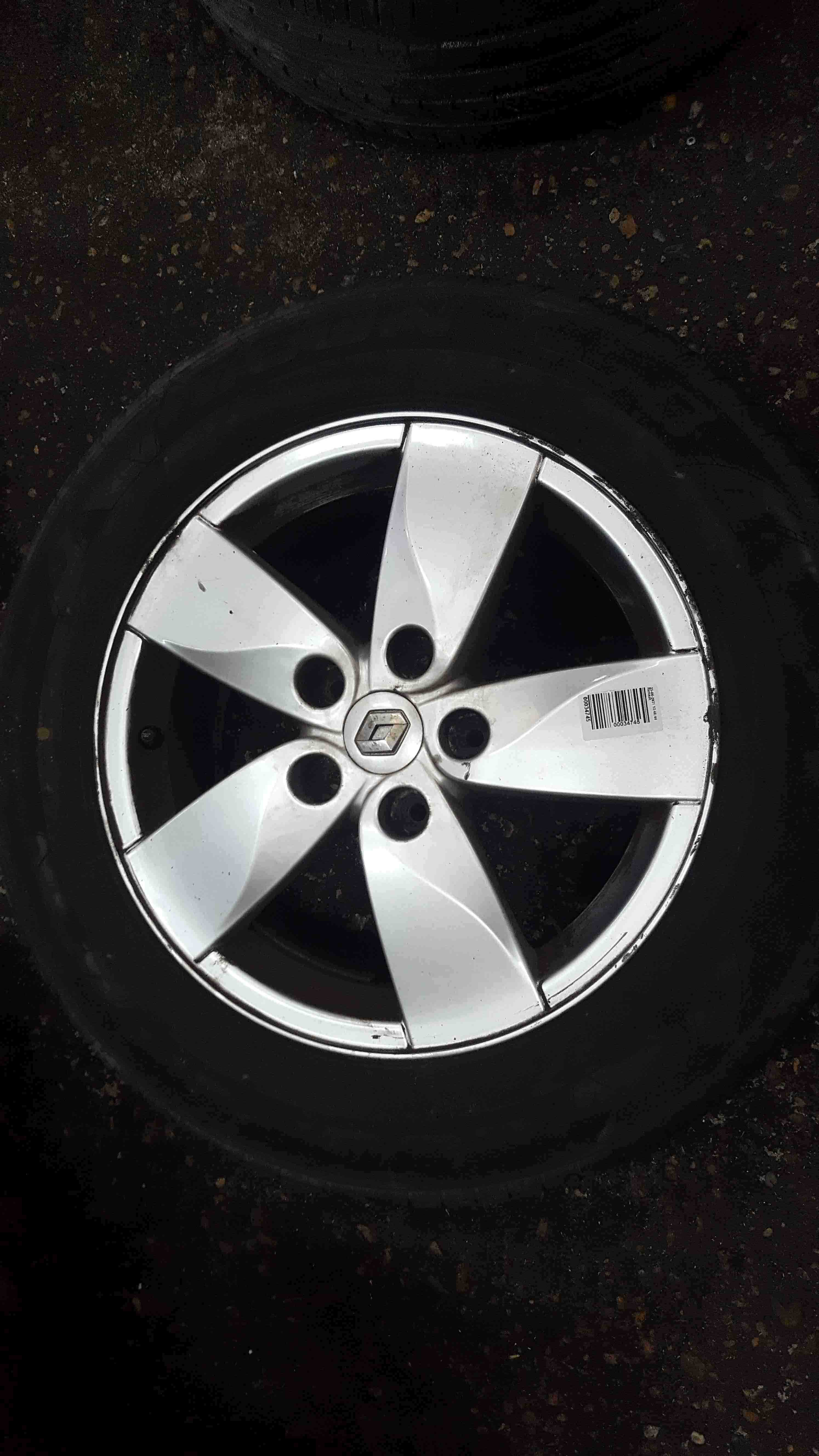 Renault Megane MK3 2008-2014 Proteus Alloy Wheel + Tyre 205 60 16 4mm
