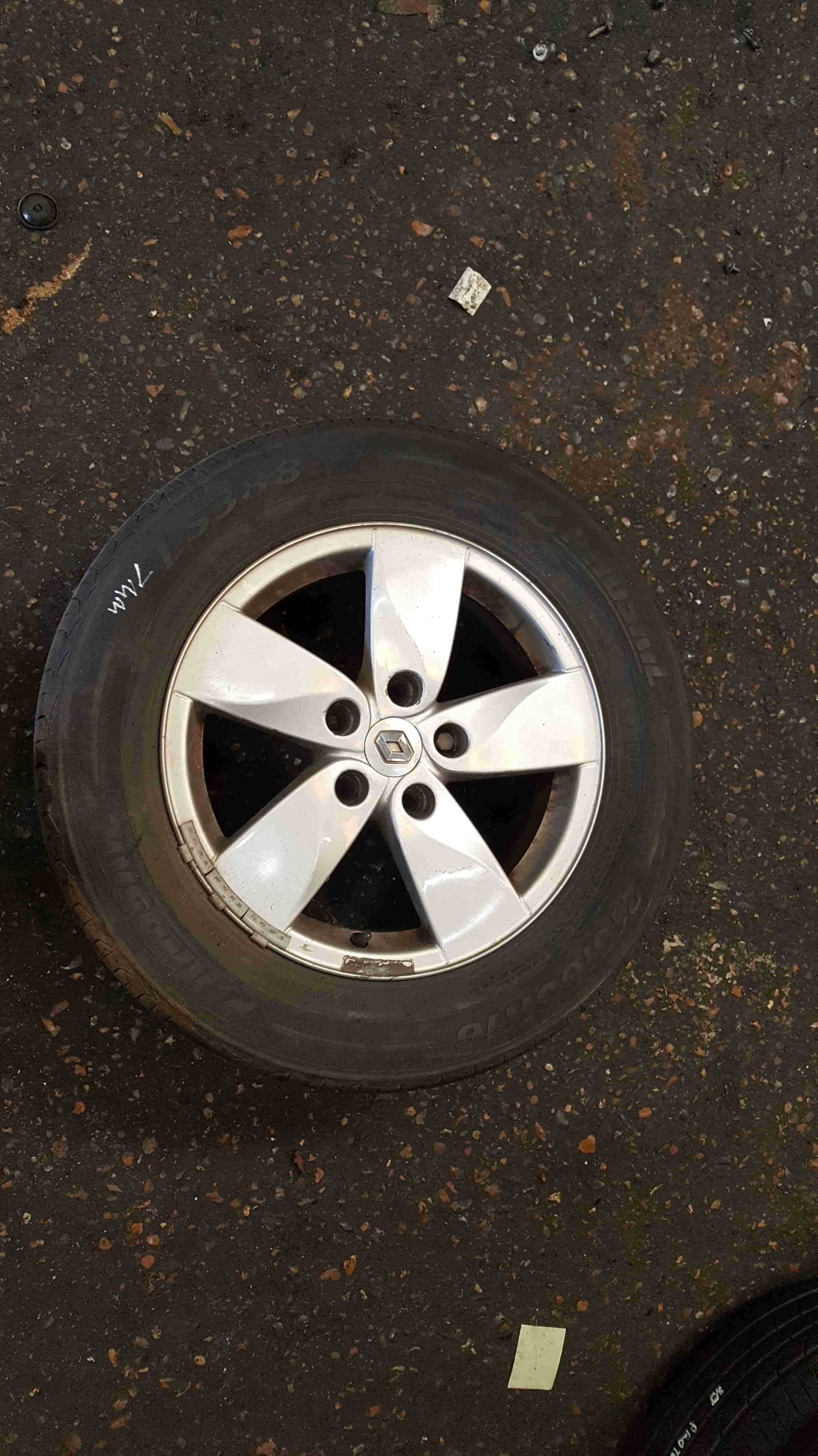 Renault Megane MK3 2008-2014 Proteus Alloy Wheel + Tyre 215 60 16 7mm