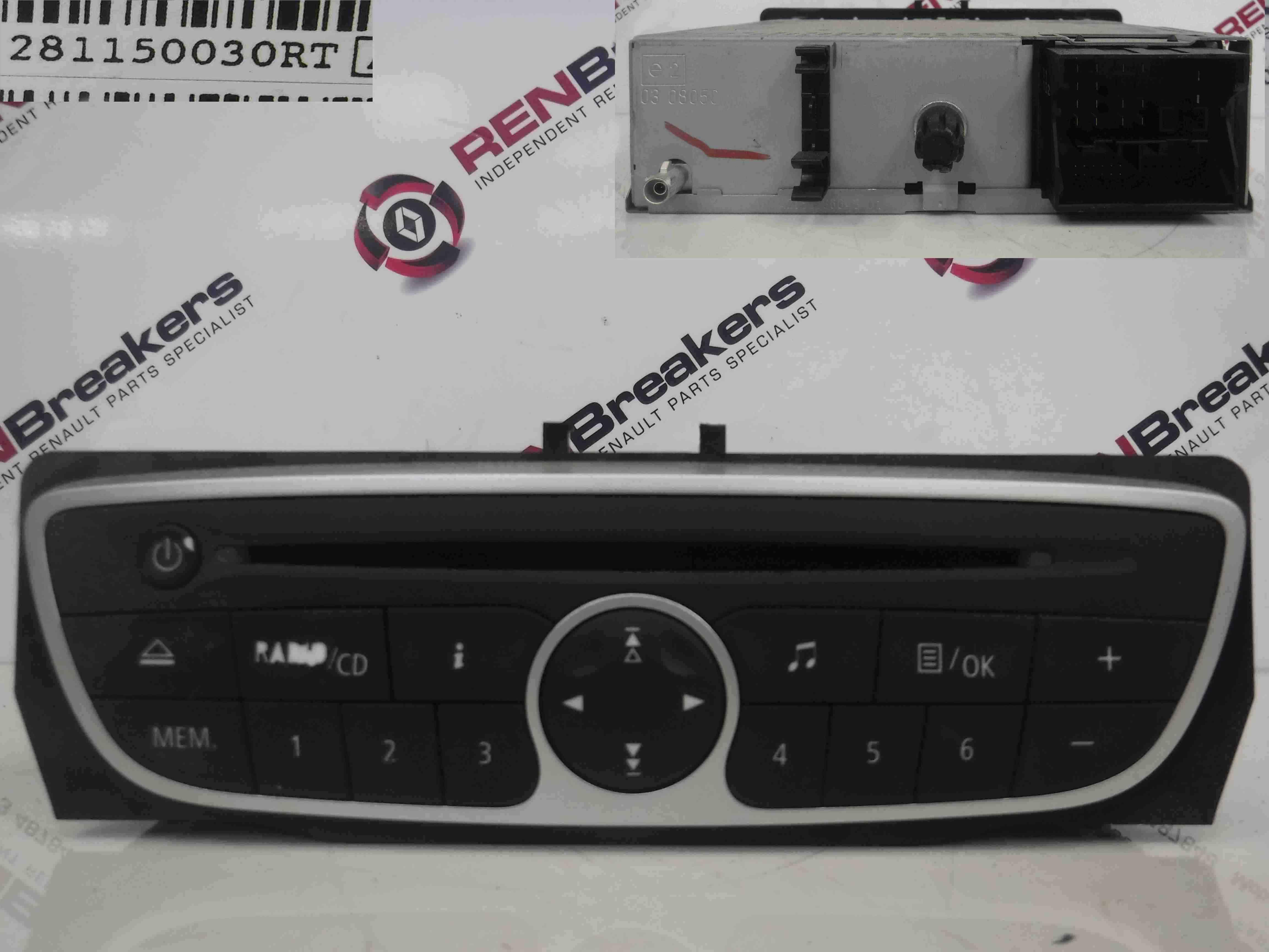 renault megane mk3 2008 2014 radio cd player unit code. Black Bedroom Furniture Sets. Home Design Ideas