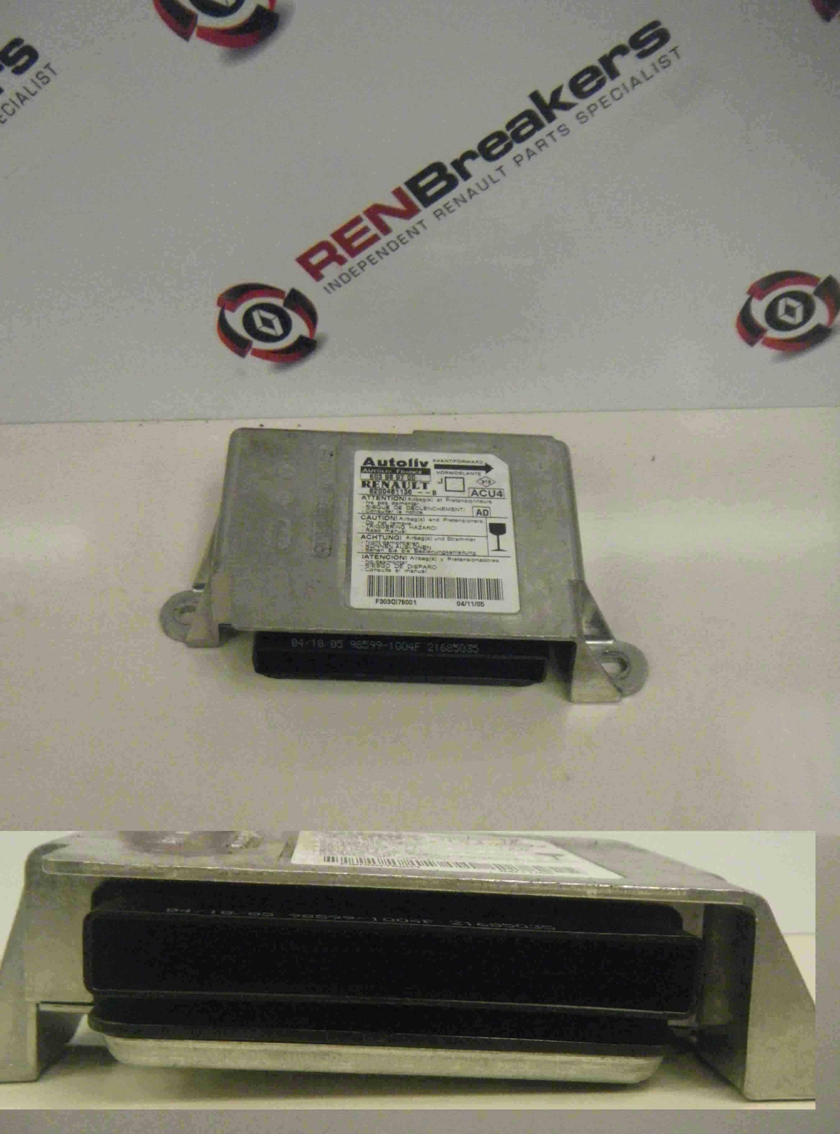 Renault Megane Scenic 2003-2009 Airbag Module ECU Unit 8200481136 603989700