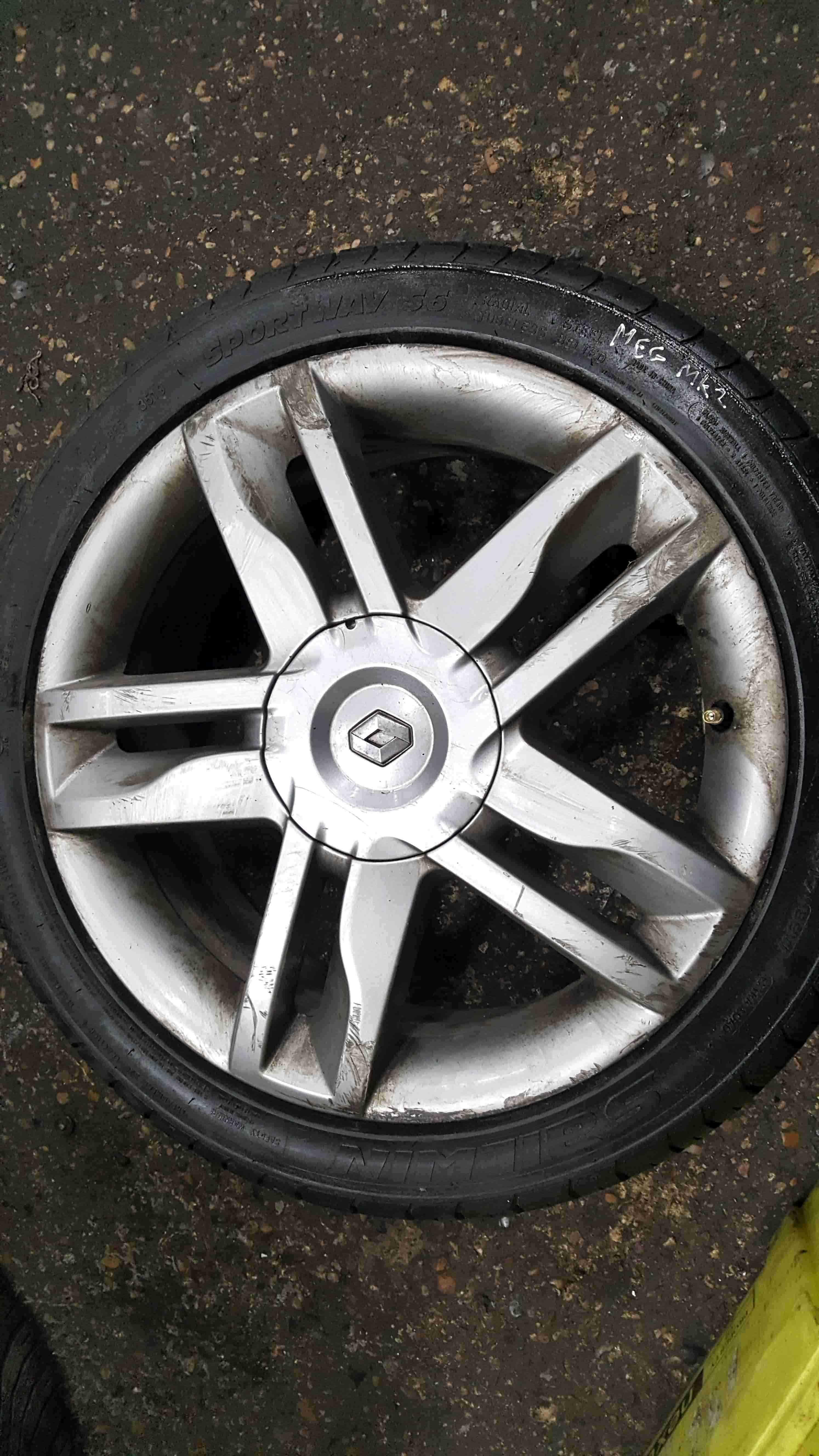 Renault Megane Sport MK2 2002-2008 175 Celcius Alloy Wheel + Tyre 205 45 17 5mm