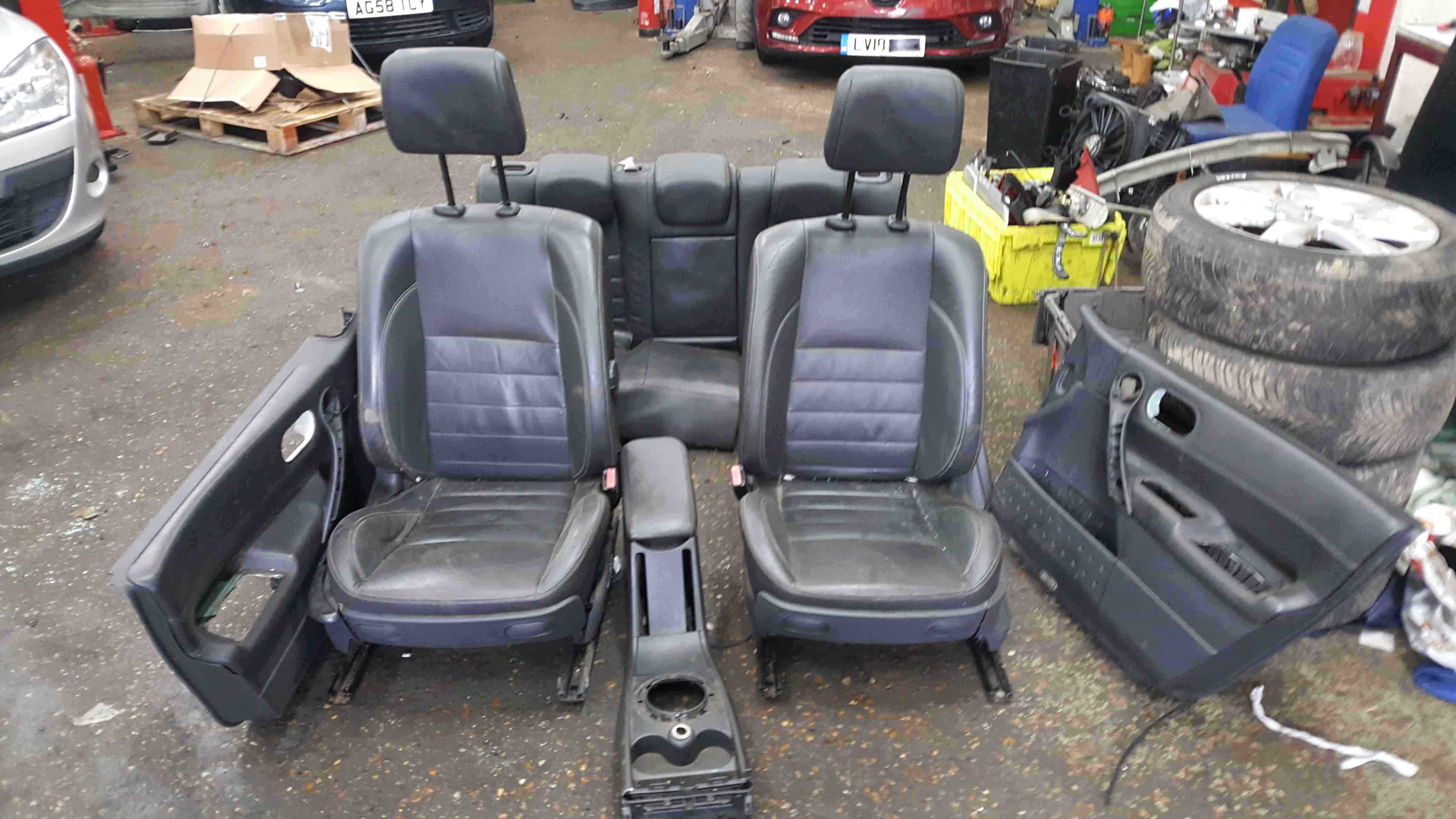 Renault Megane Sport MK2 2002-2008 175 Leather Black Interior Set Door Cards