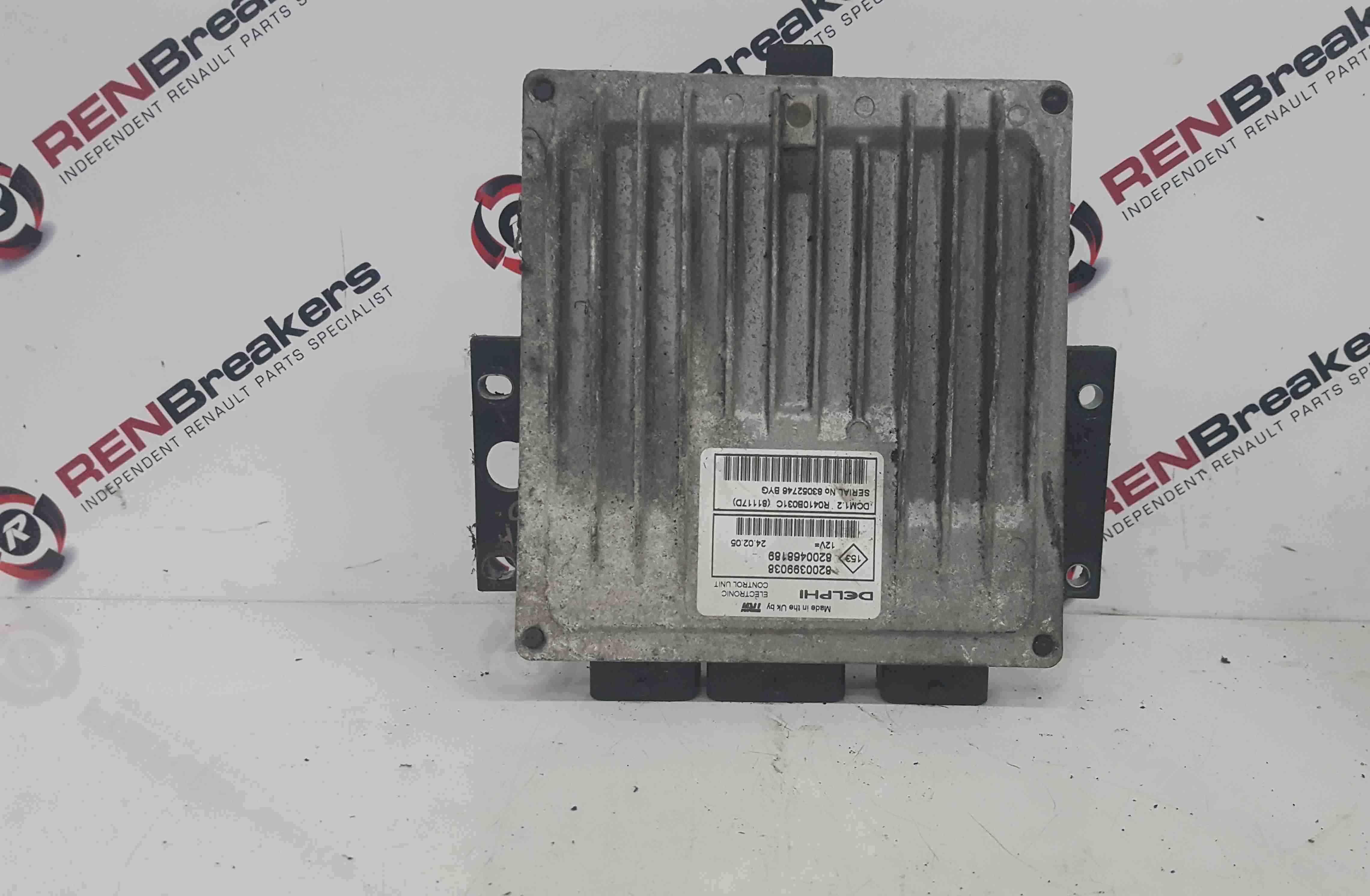 Renault Modus 2004-2008 1.5 DCi Engine Control Unit ECU 8200399038 8200468189