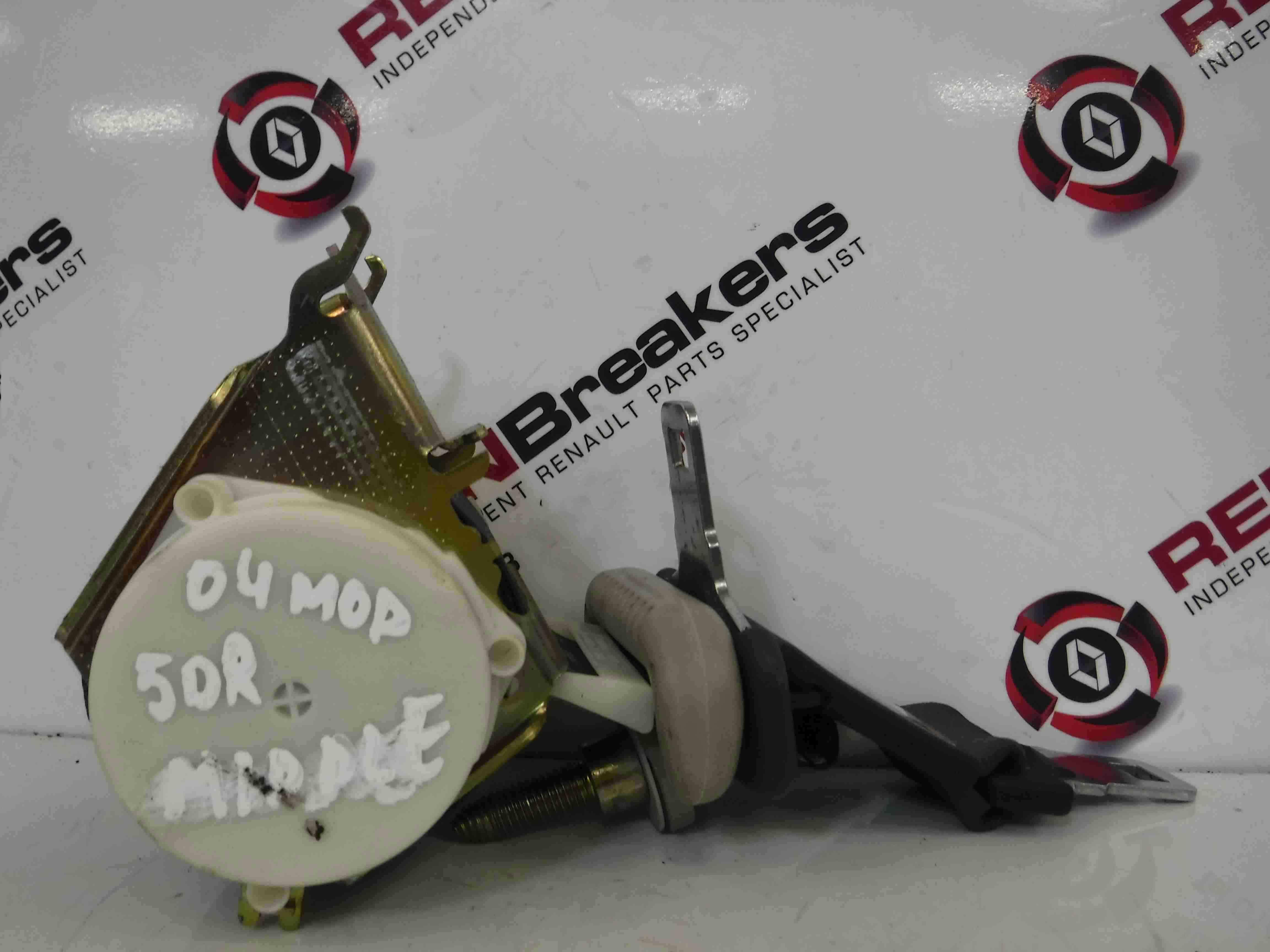 Renault Modus 2004-2008 Centre Middle Seat Belt