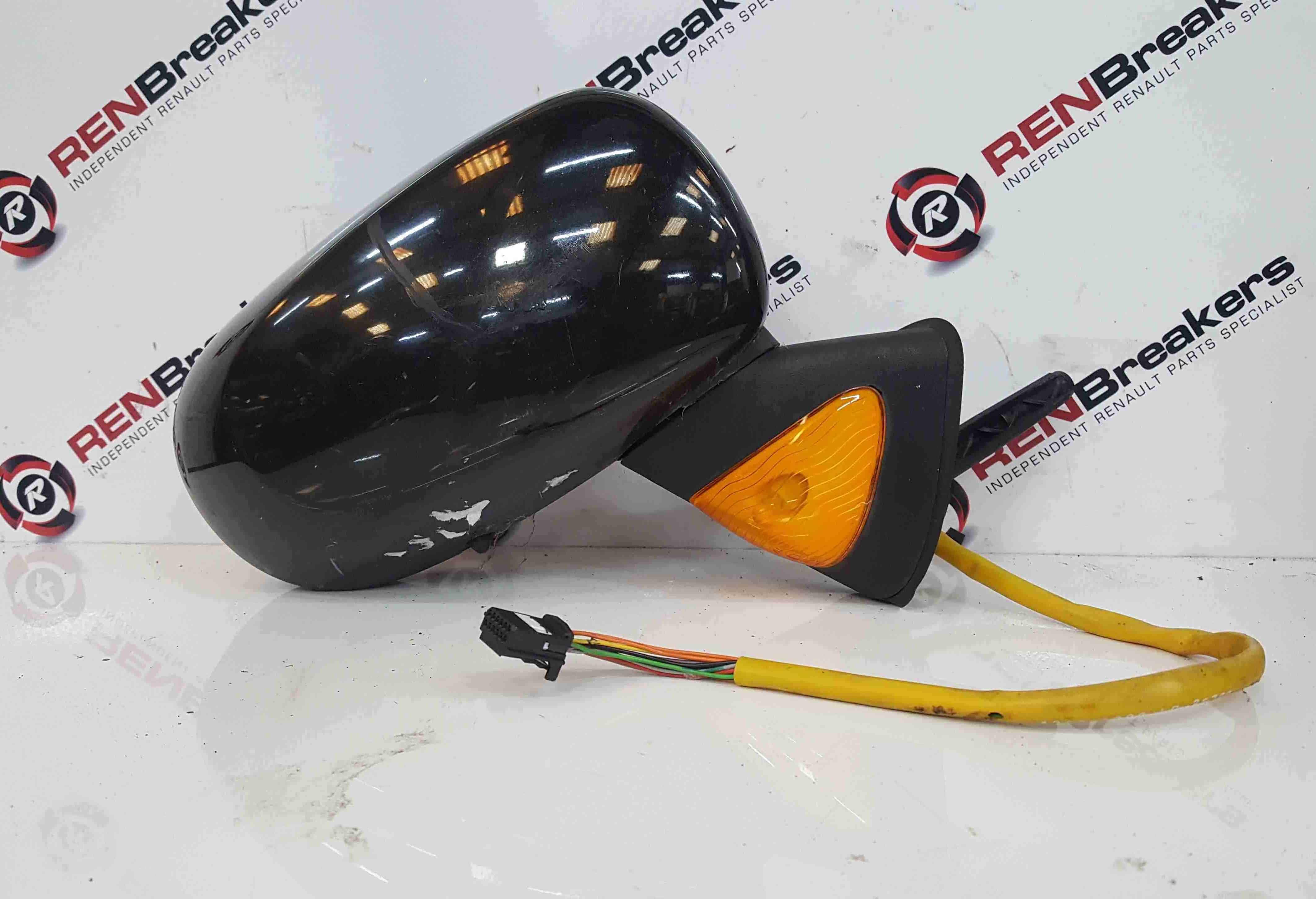 Renault Modus 2004-2008 Drivers OS Wing Mirror Black Power Folding 676
