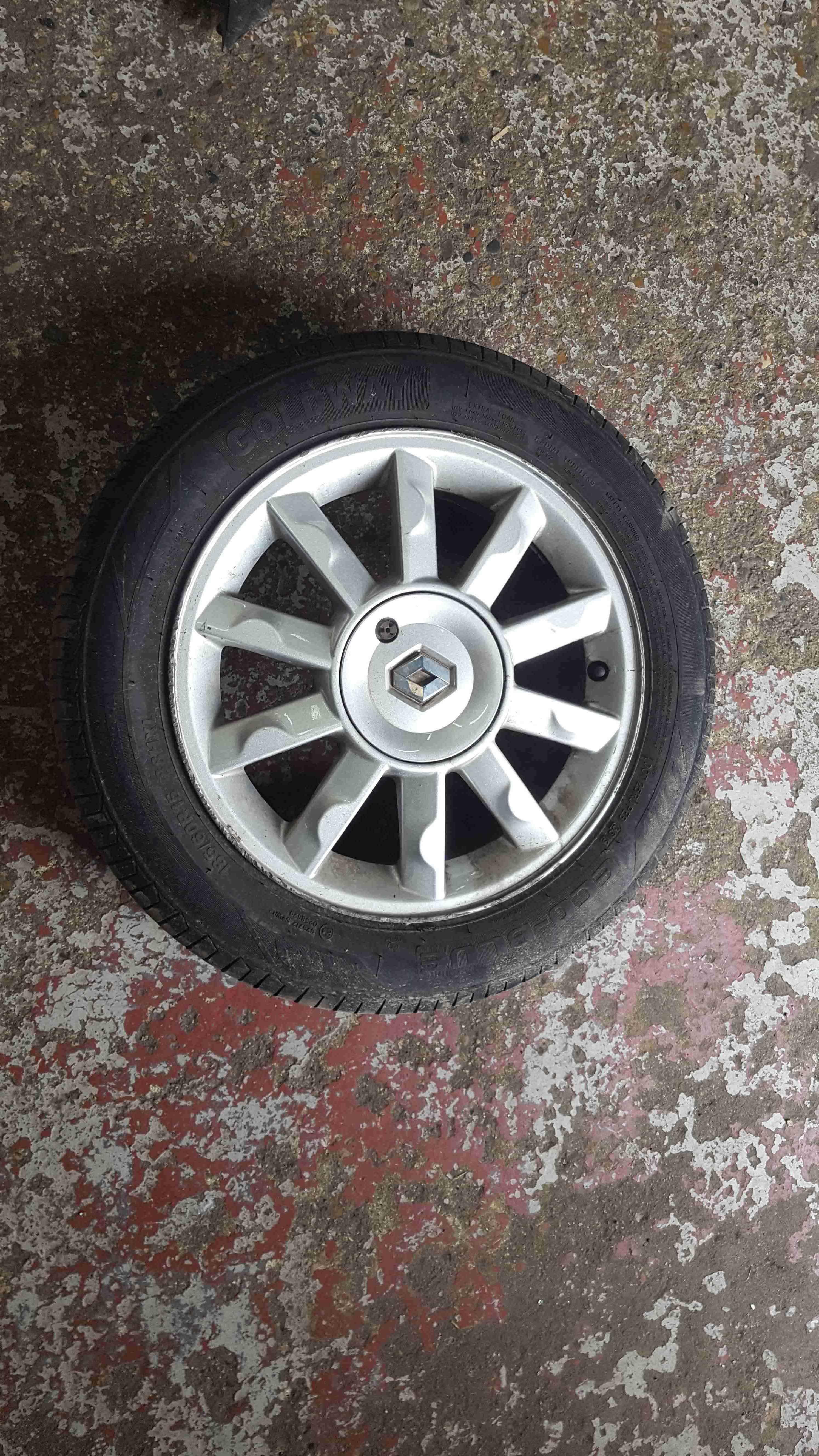 Renault Modus 2004-2008 Kimono Alloy Wheel 15inch + Tyre 185 60 15 6mm
