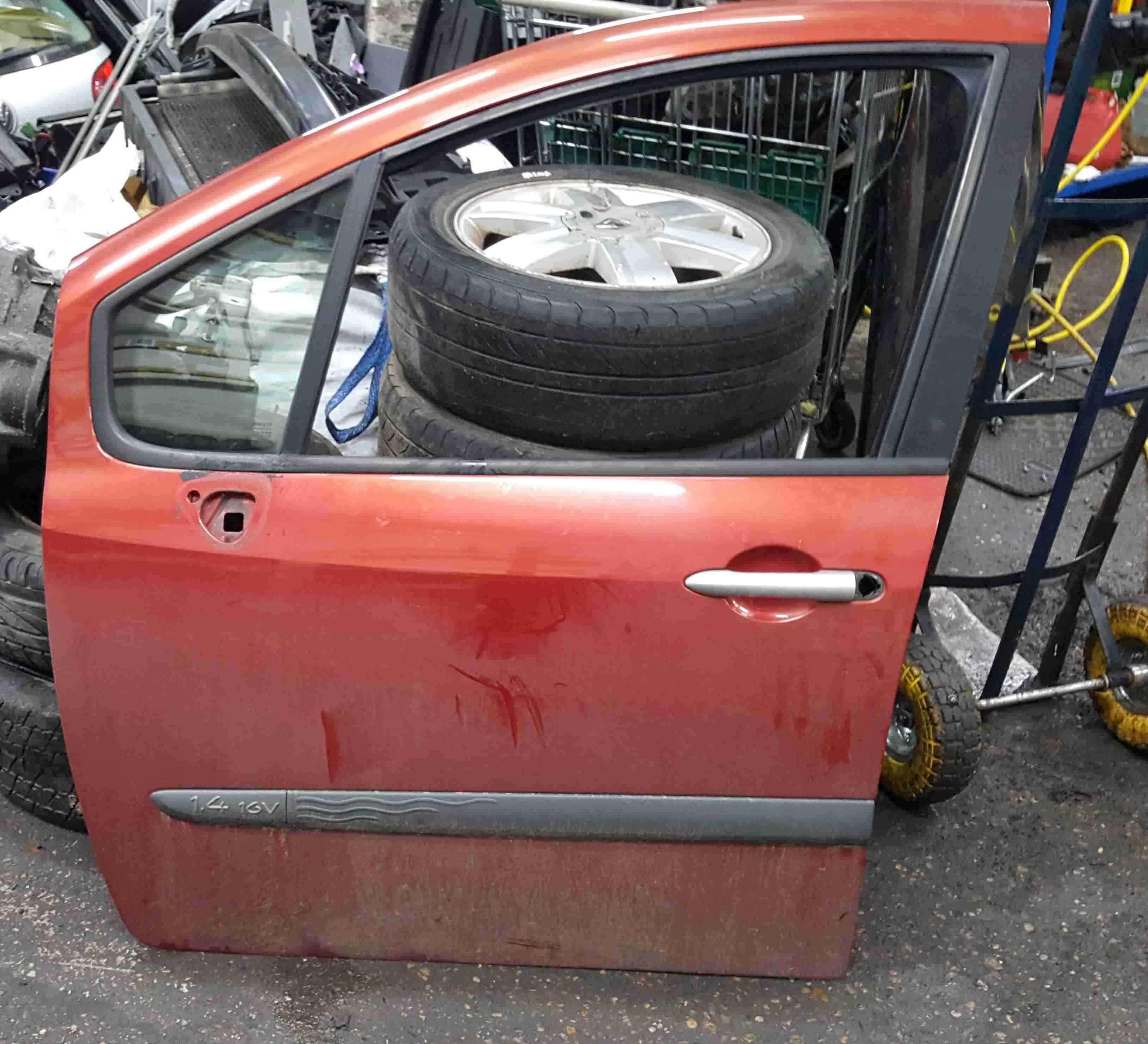 Renault Modus 2004-2008 Passenger NSF Front Door Red TEB76