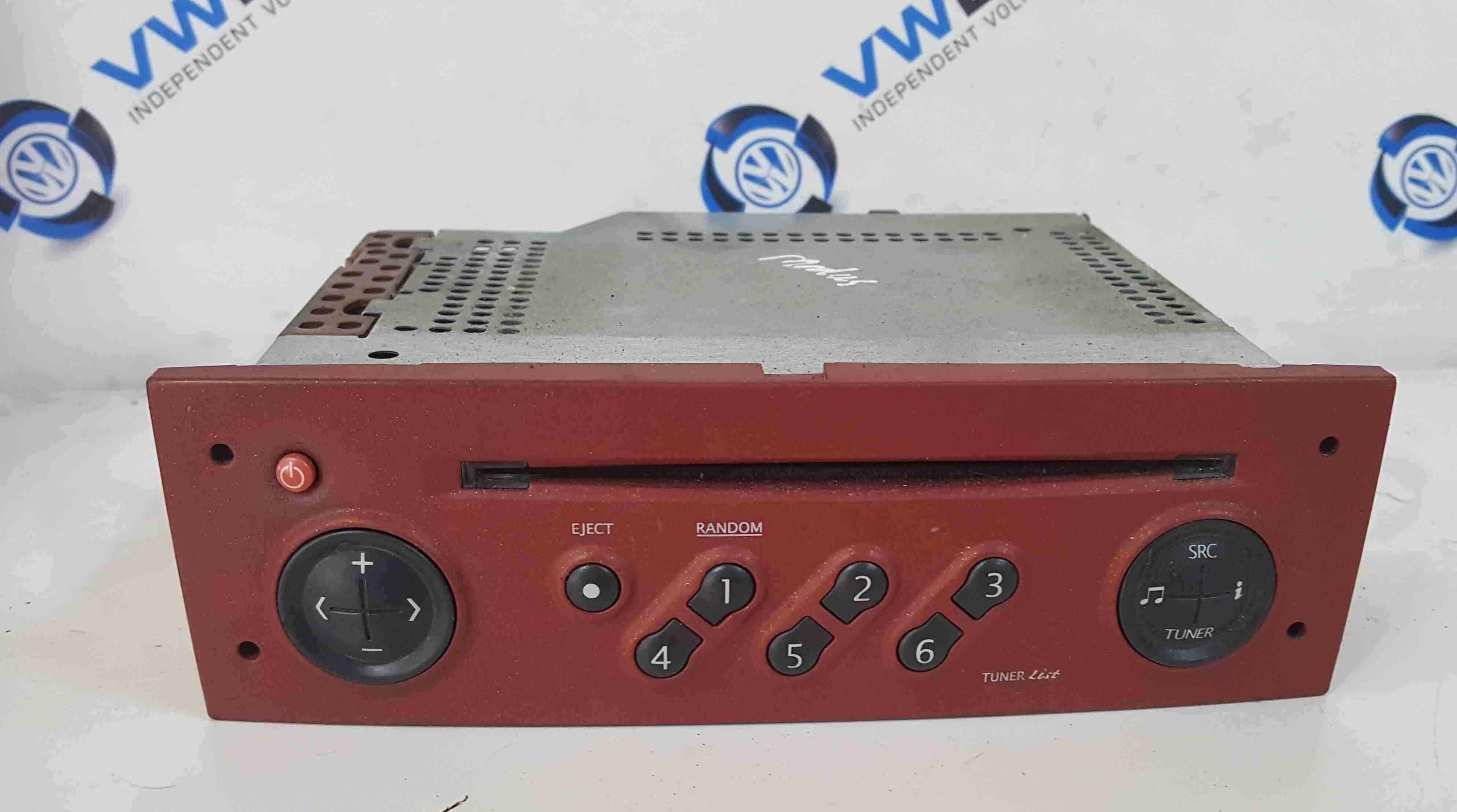 Renault Modus 2004-2008 Radio Cd Player Tuner List Red + Code 8200377864