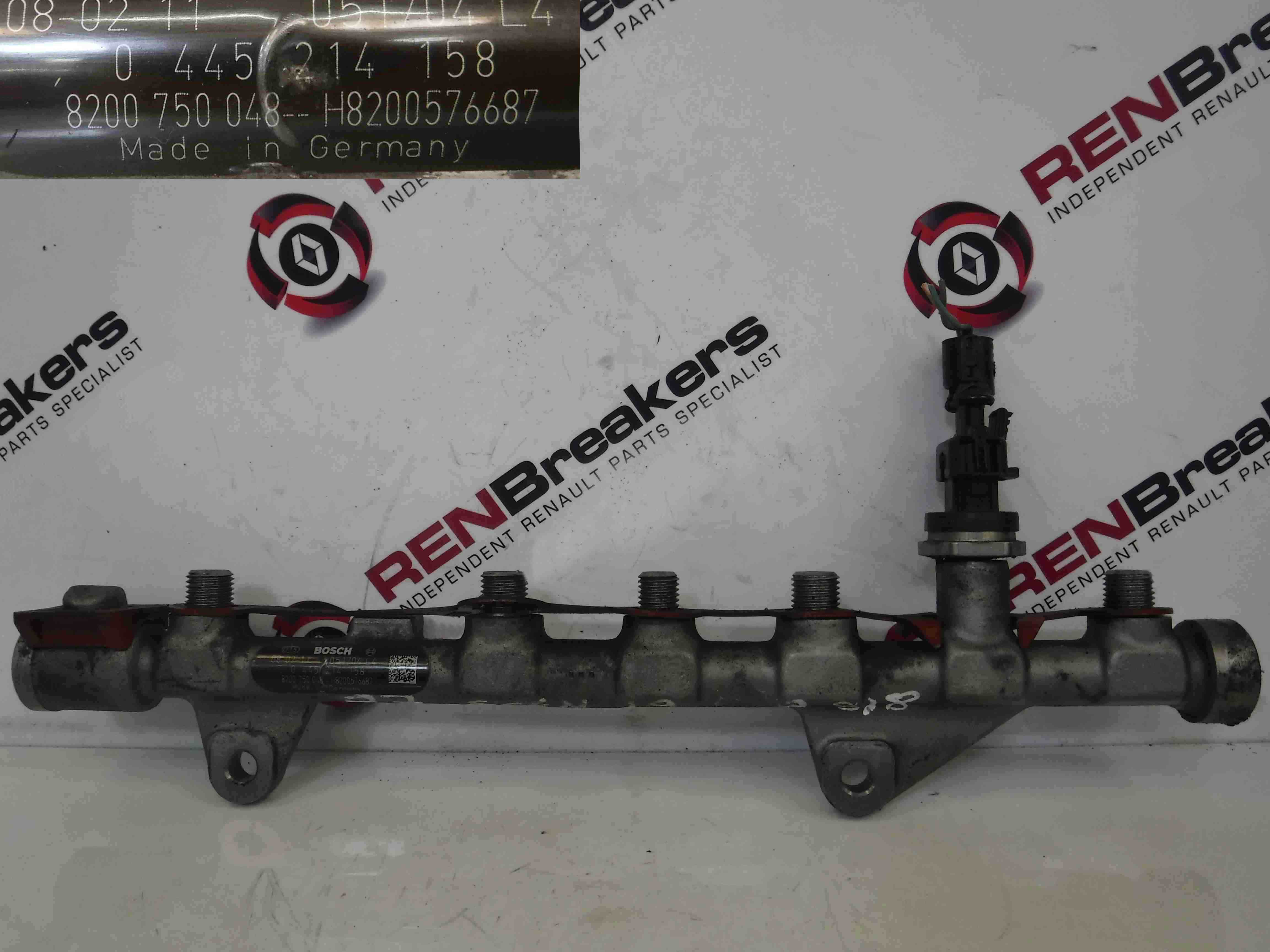 Renault Fuel Pressure Diagram : Renault scenic dci fuel injector rail