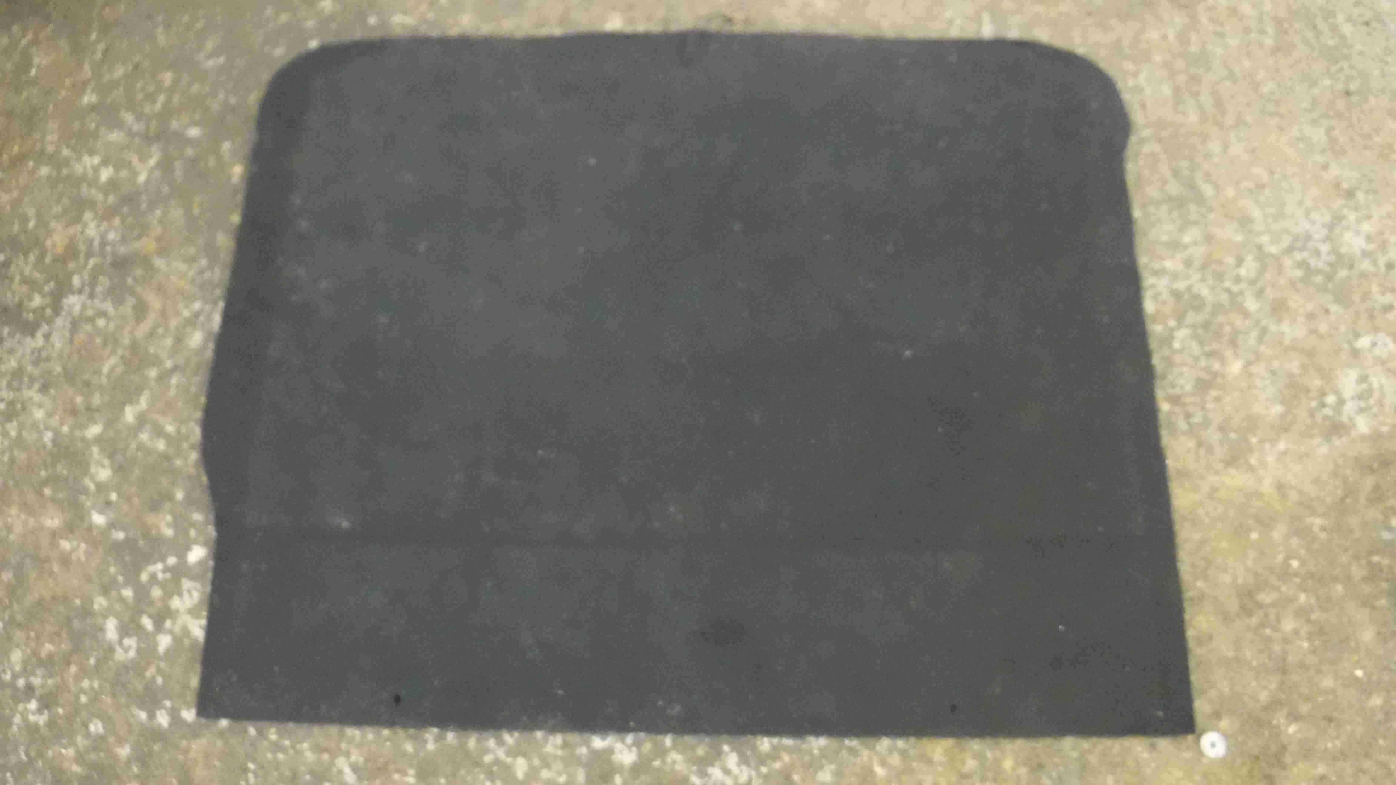 Renault Scenic 2003-2009 Black Boot Carpet Floor Mat Liner 8200250345