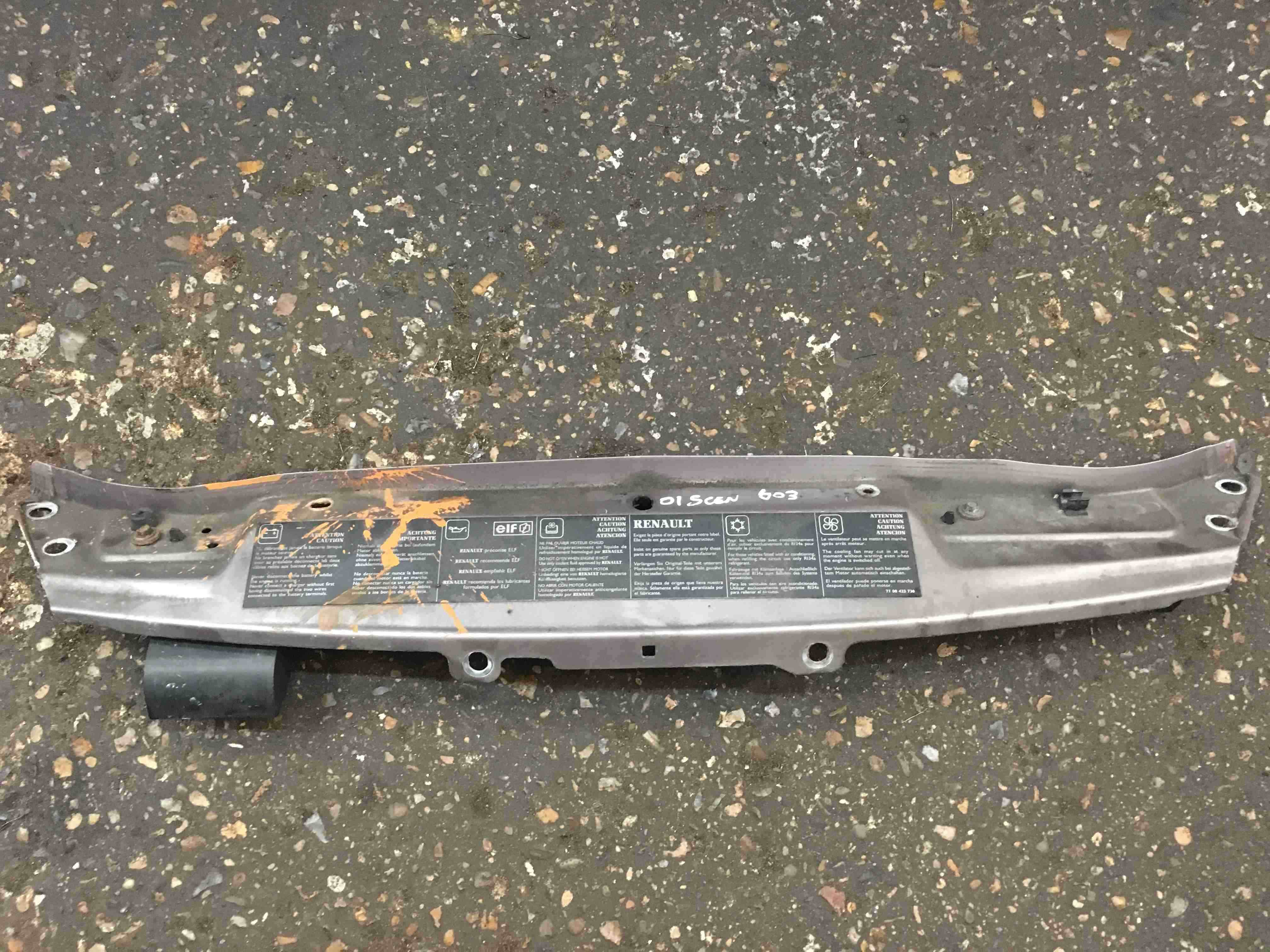 Renault Scenic MK1 1999-2003 Front Slam Panel Silver 632