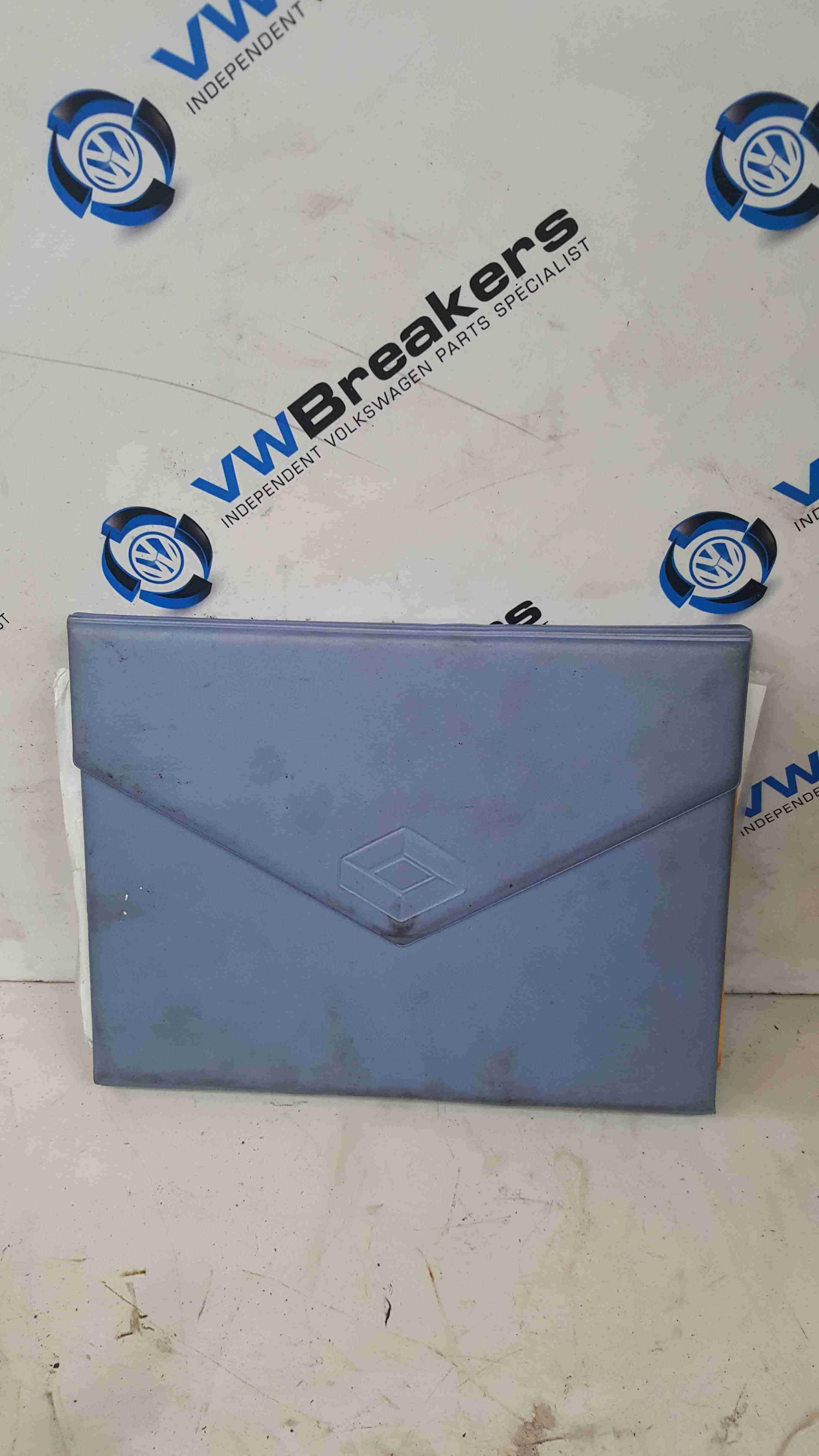 Renault Scenic MK2 2003-2009 Document Wallet Holder Blue