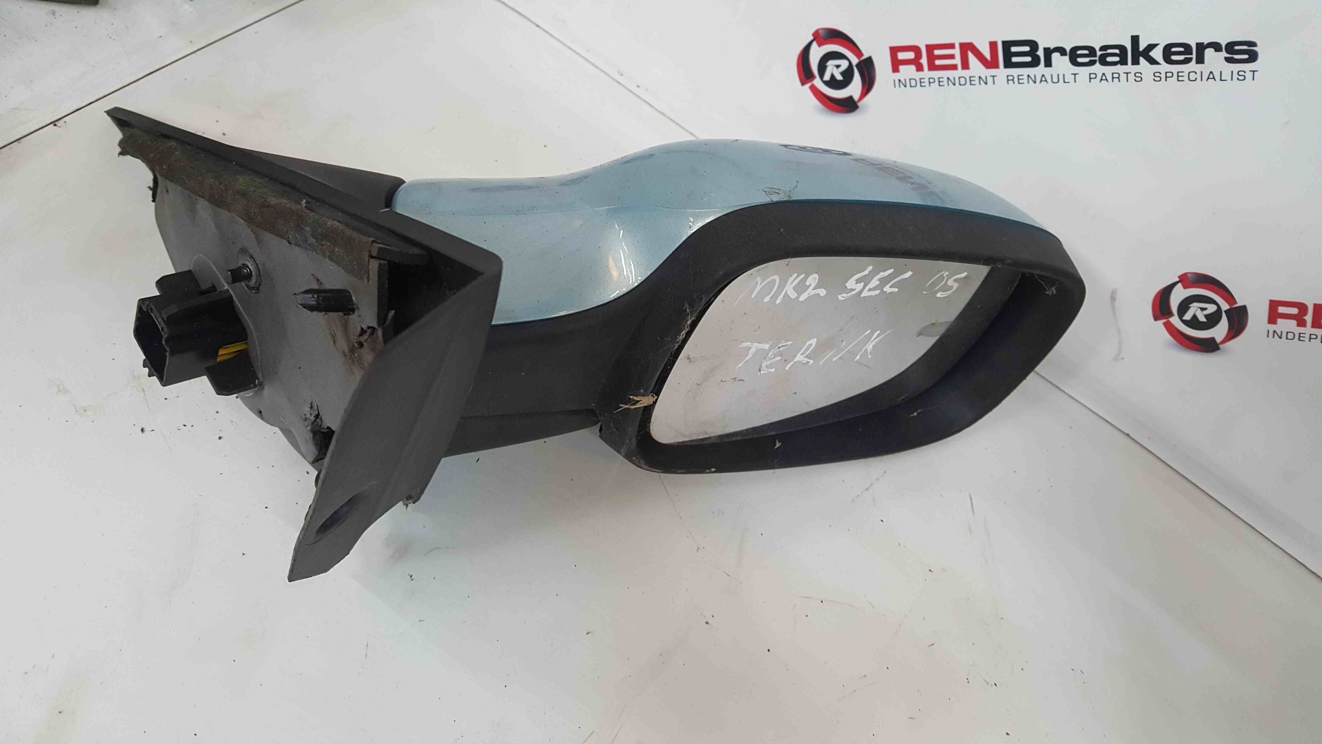 Renault Scenic MK2 2003-2009 Drivers OS Wing Mirror Blue TERNK