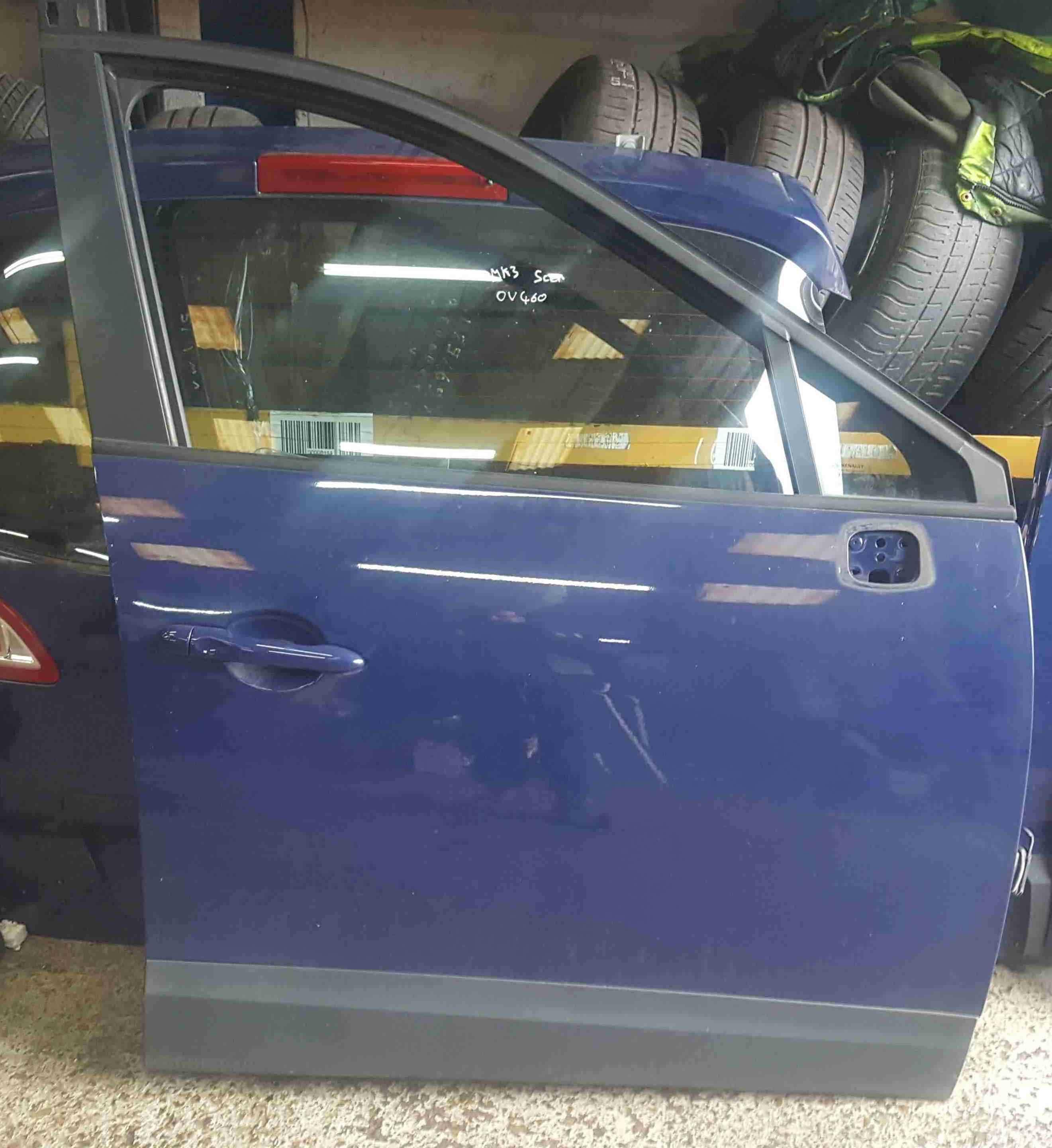 Renault Scenic MK3 2009-2013 Drivers OSF Front Door Blue OV460
