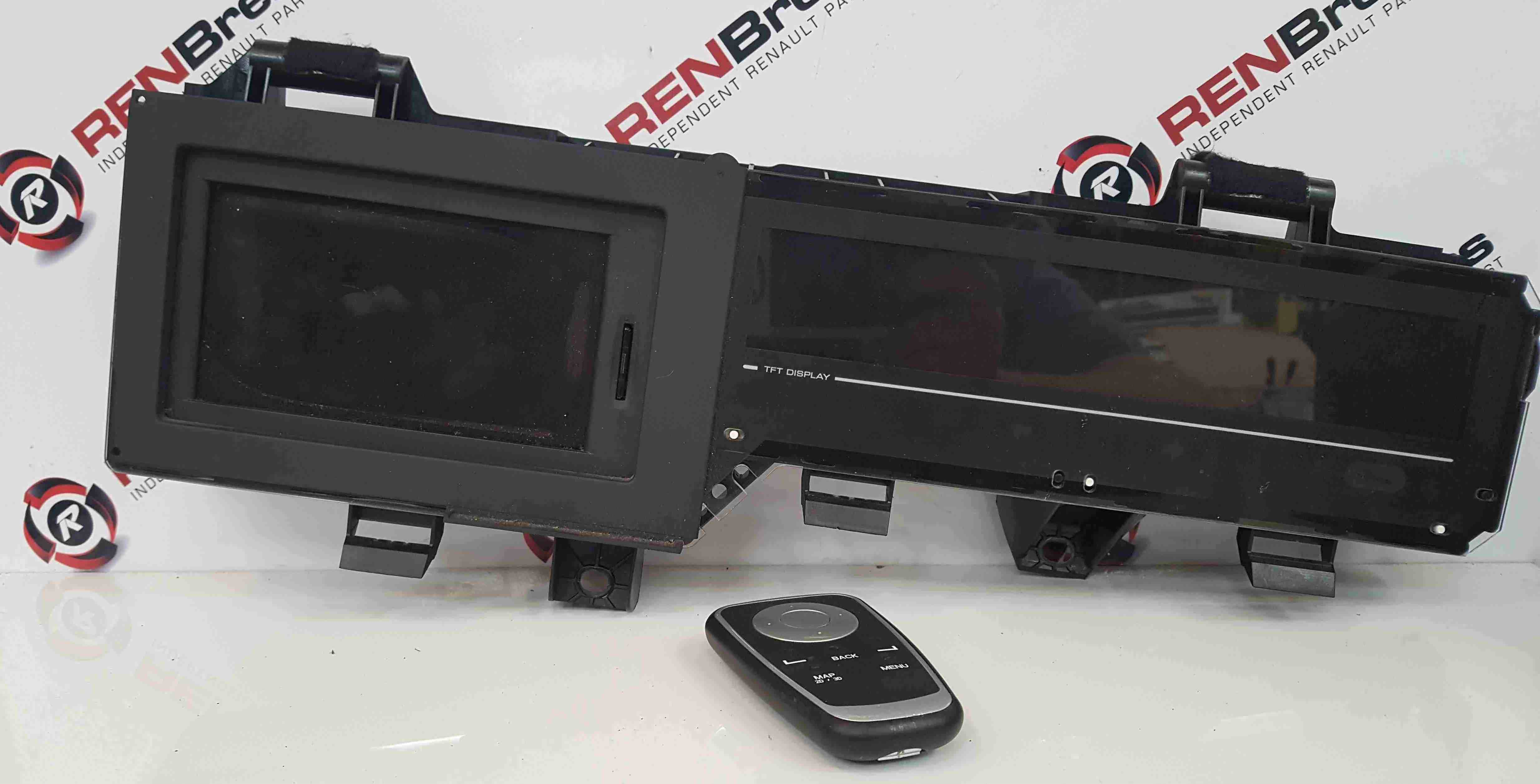 Renault Scenic MK3 2009-2016 Cd Radio Display Unit With Control Controller