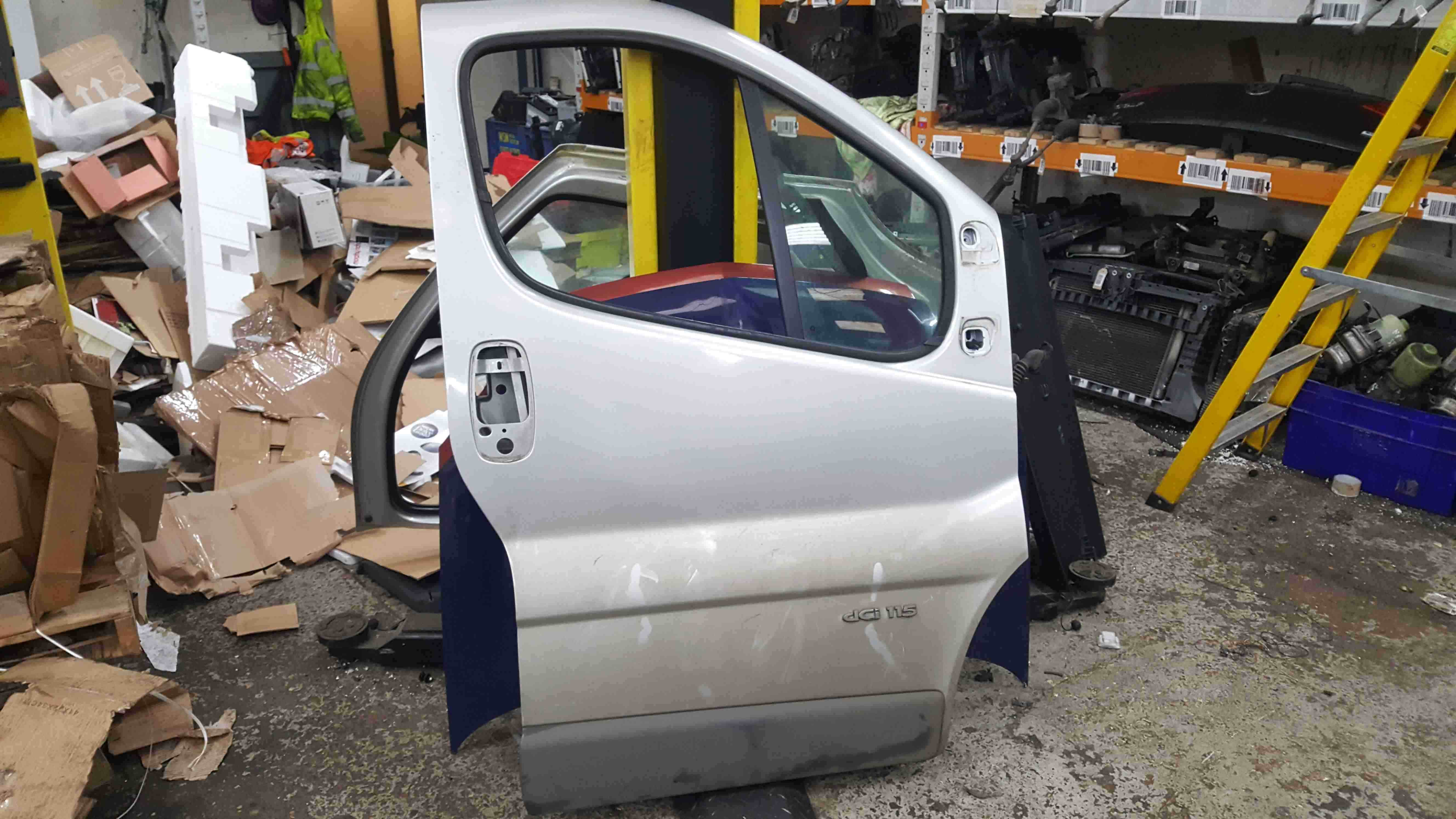Renault Trafic 2006-2014 Drivers OSF Front Door Silver CMG64