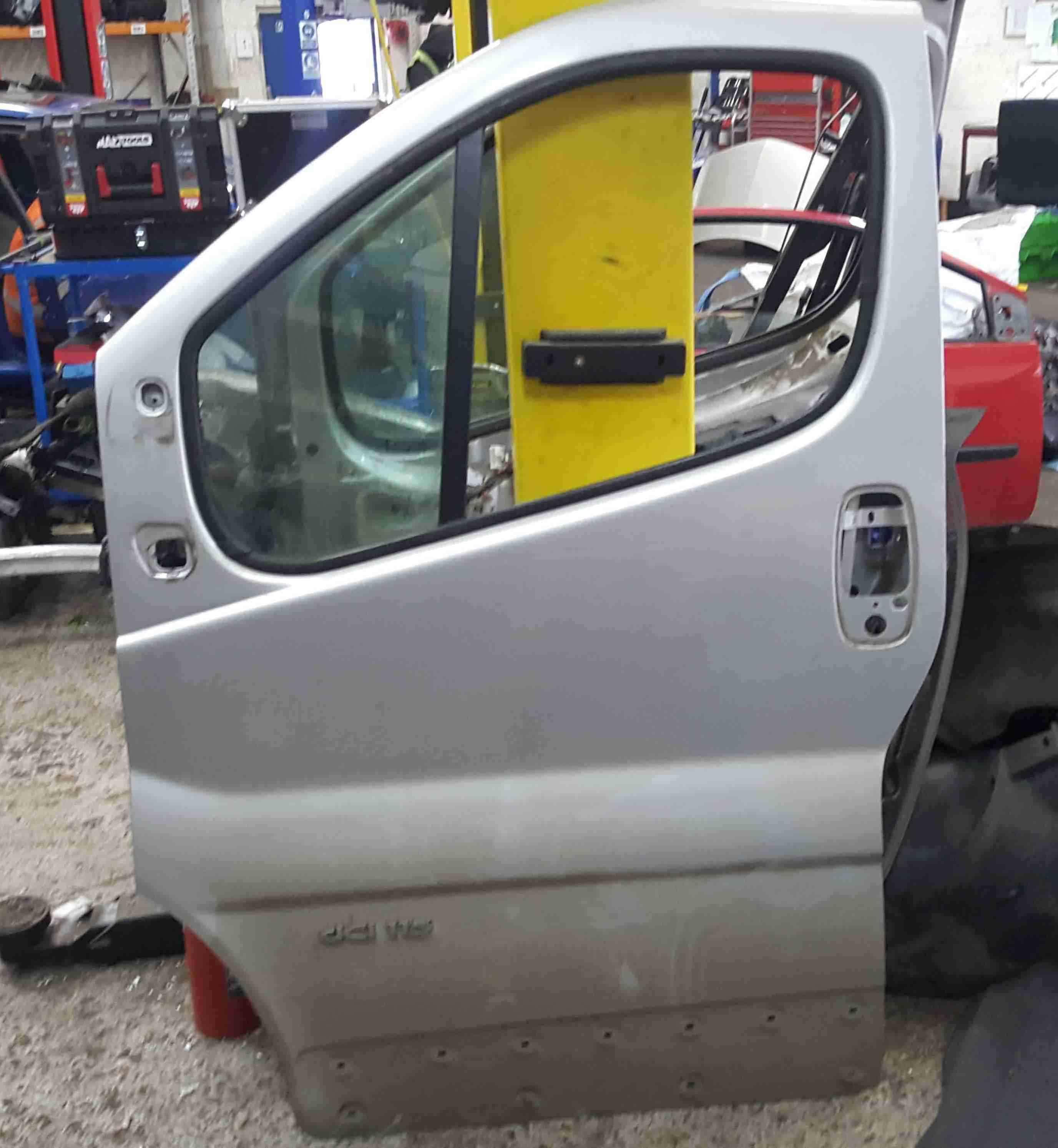 Renault Trafic 2006-2014 Passenger NSF Front Door Silver CMG64