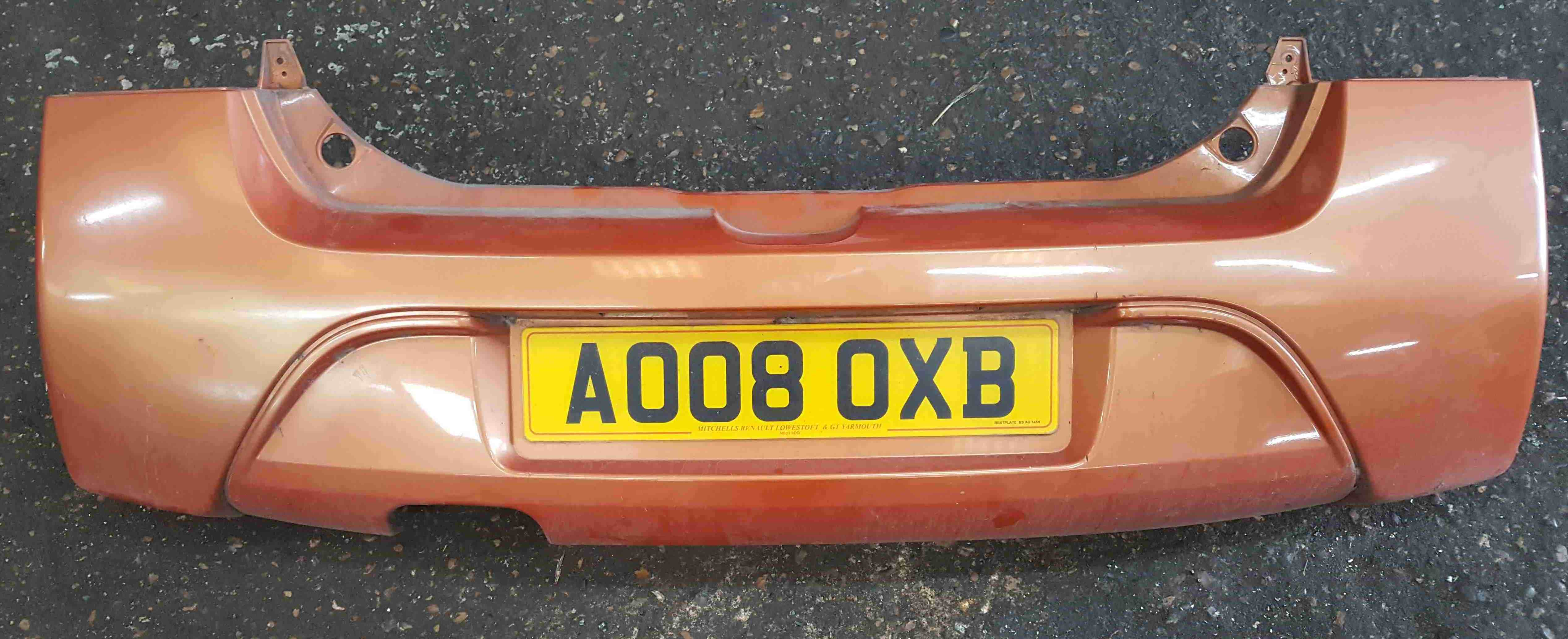 Renault Twingo 2007-2011 Rear Bumper Orange TEENC
