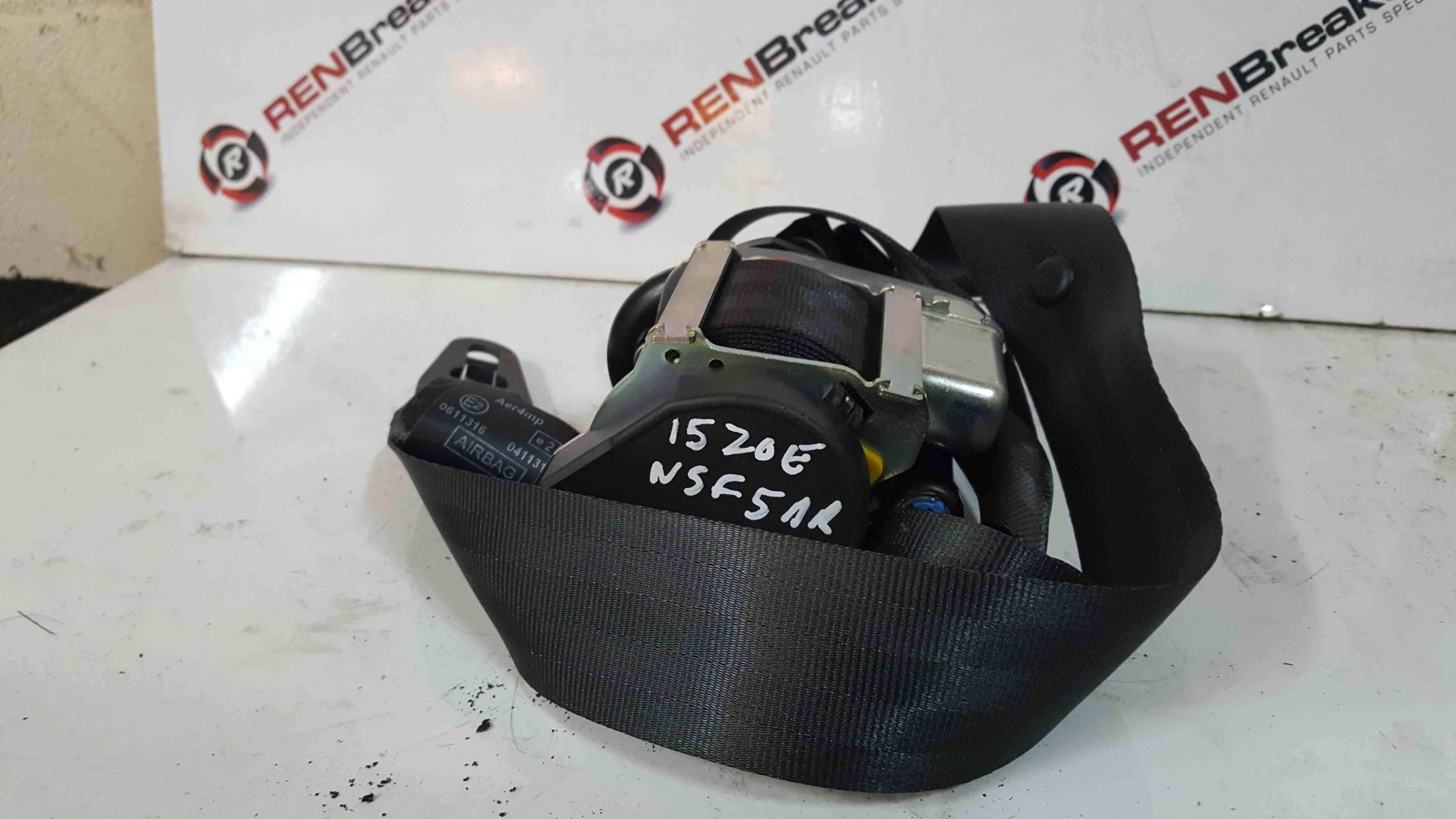 Renault Zoe 2012-2015 Passenger NSF Front Seat Belt 868855619R