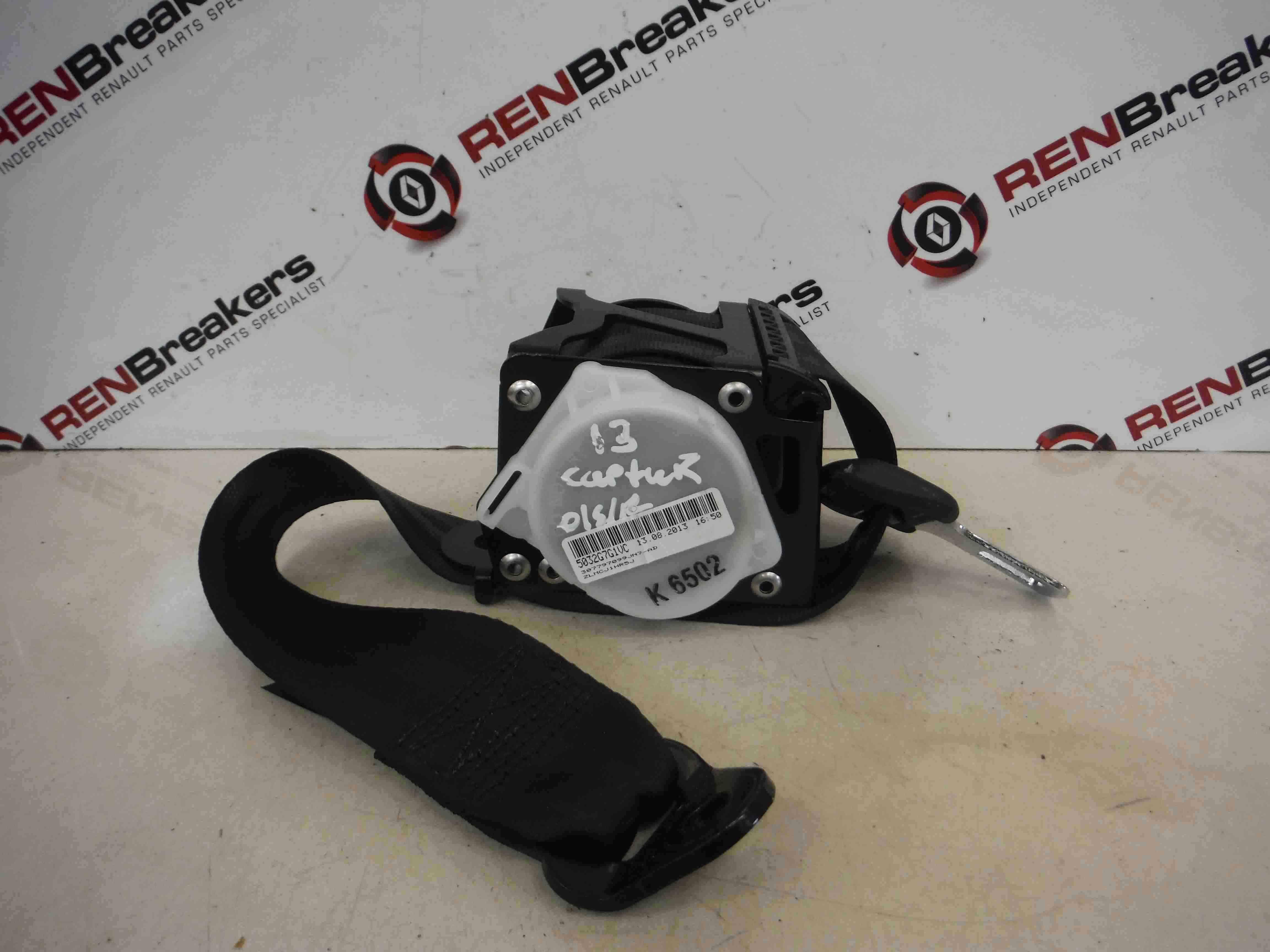 Renault Captur 2013-2015 Drivers OSR Rear Seat Belt
