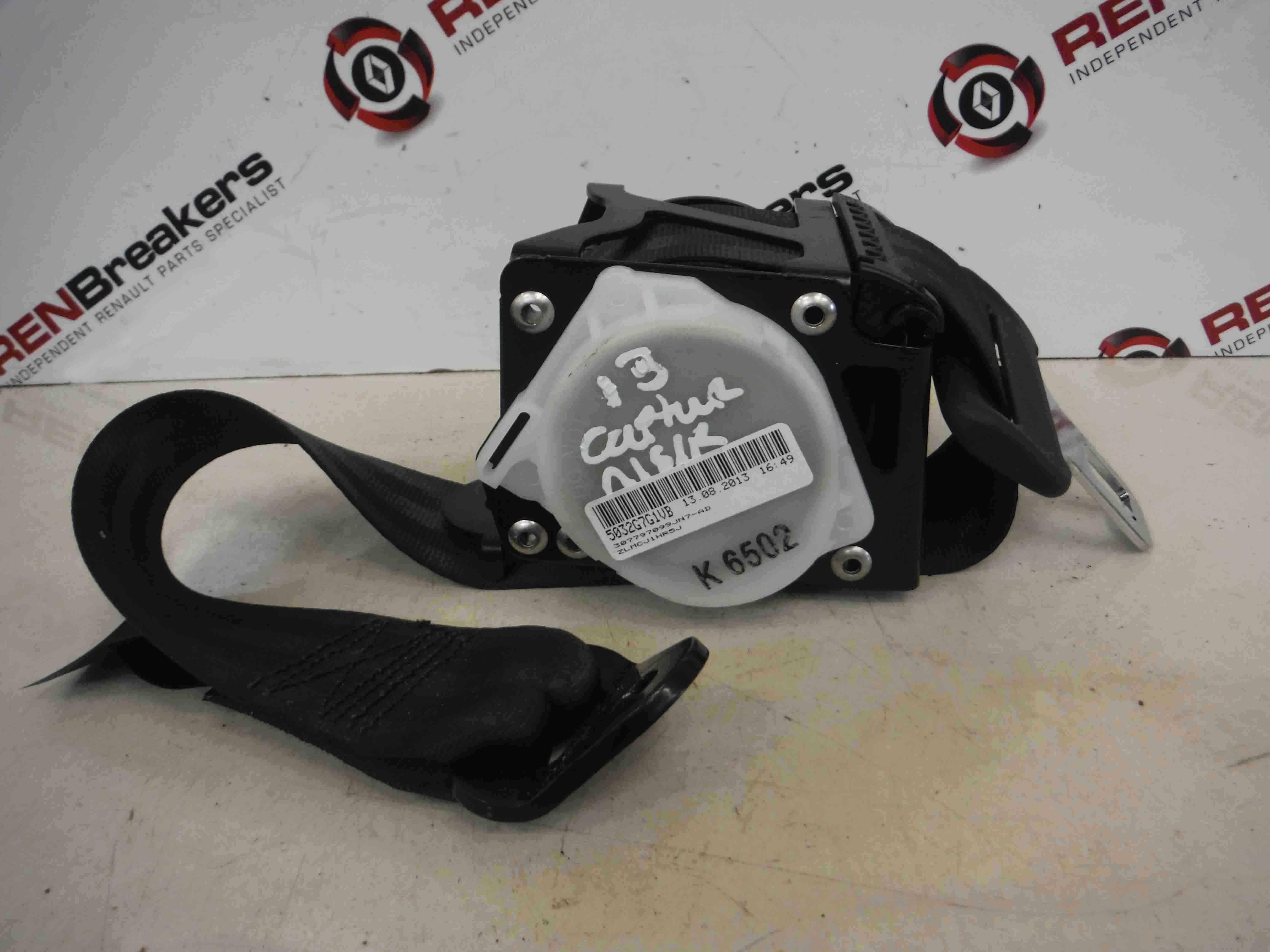 Renault Captur 2013-2015 Passenger NSR Rear Seat Belt