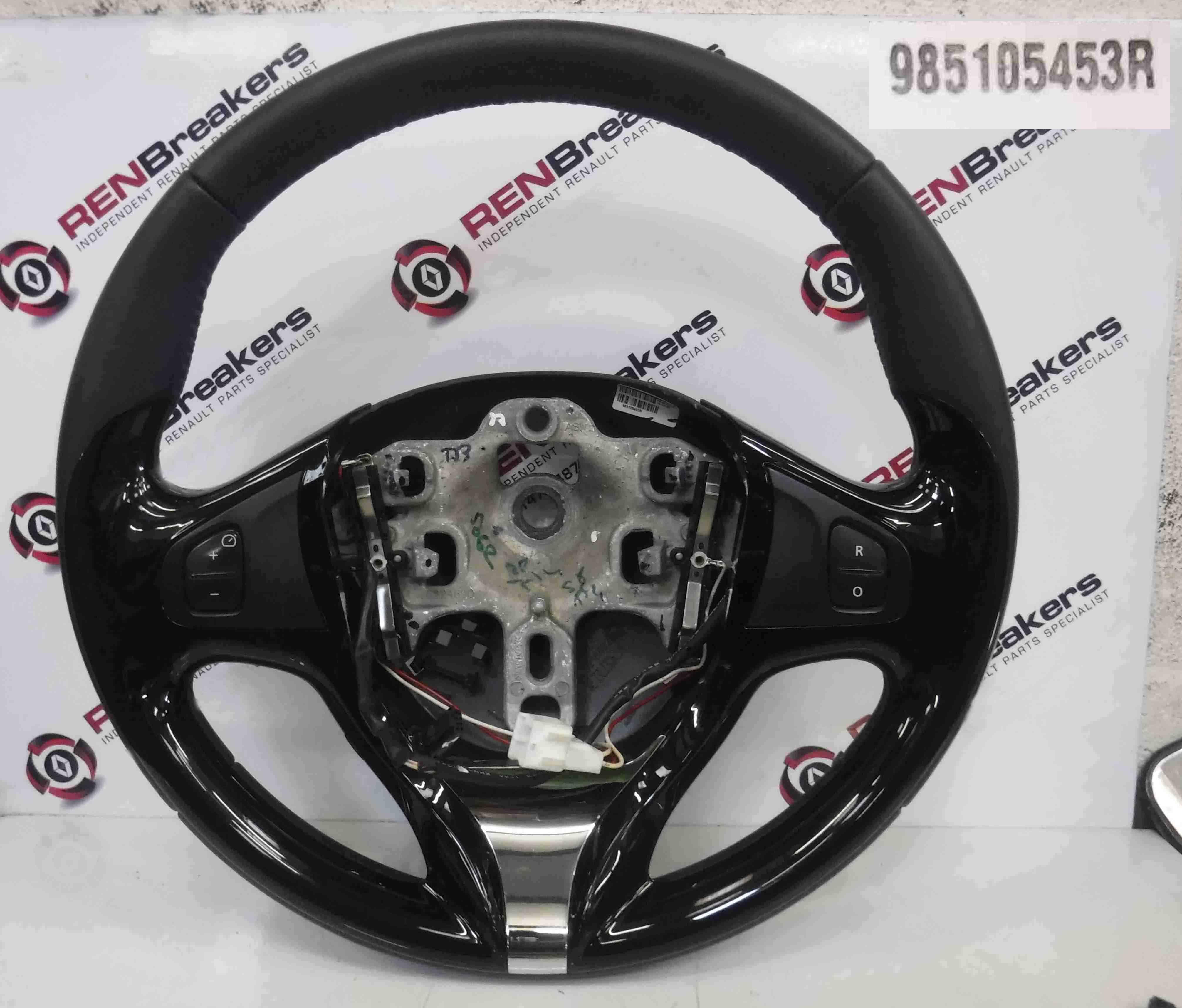 Renault Captur 2013-2015 Steering Wheel Black Chrome Cruise ControlR 985105453