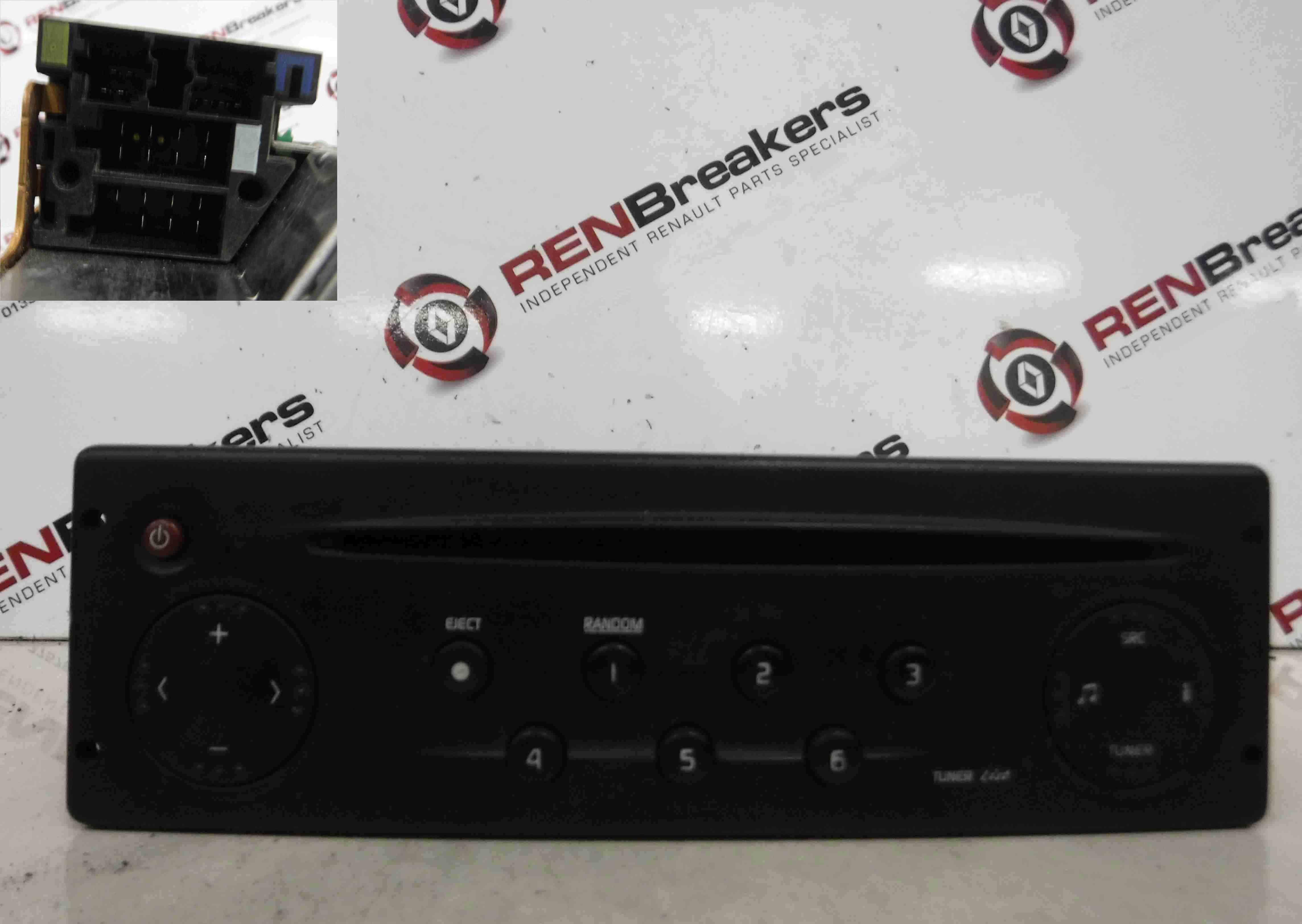 Renault Clio MK2 1998-2001 Radio Cd Player Tuner List + Code 8200057681