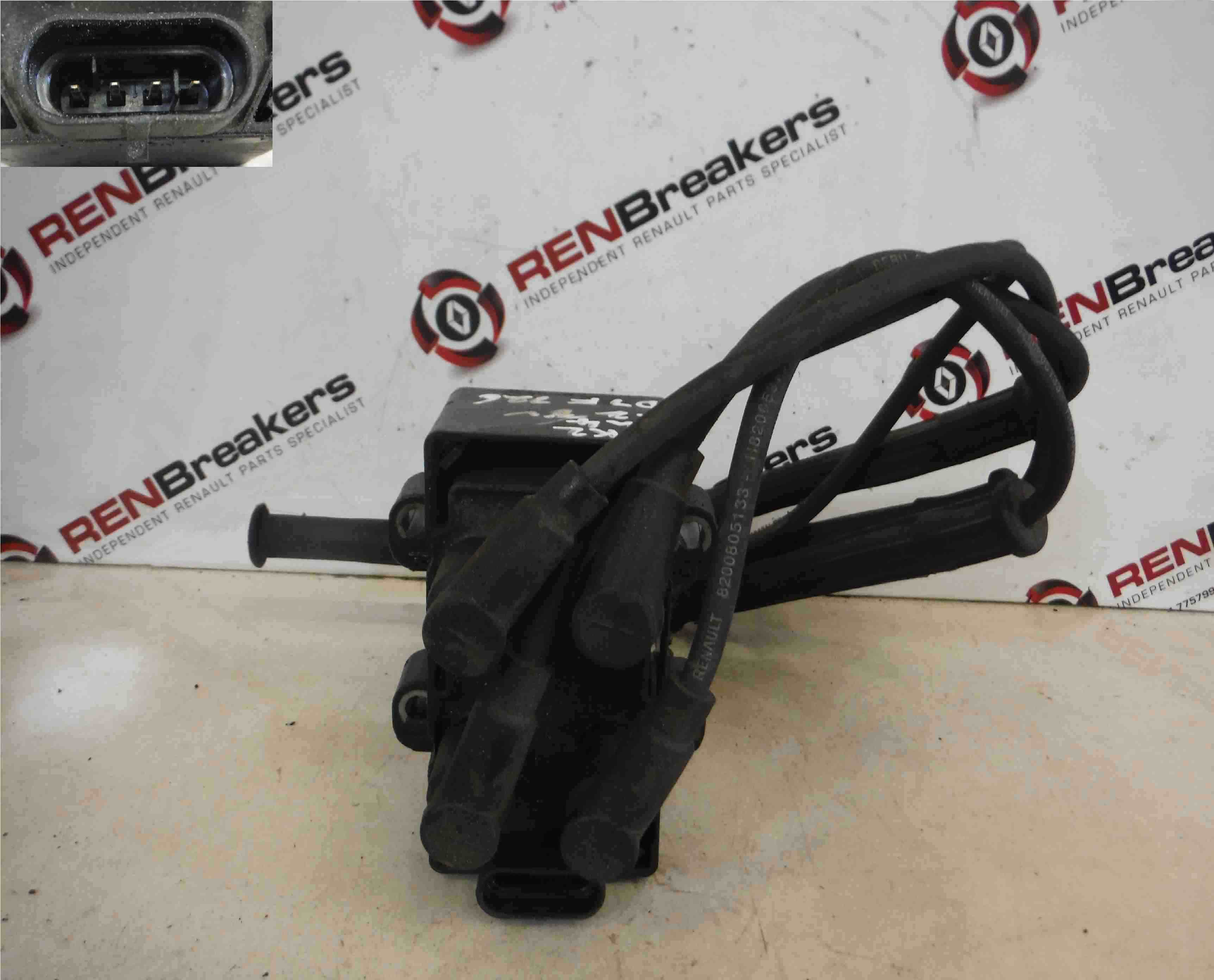 Renault Clio MK2 1998-2006 1.2 8v Ignition Coil Pack + Leads