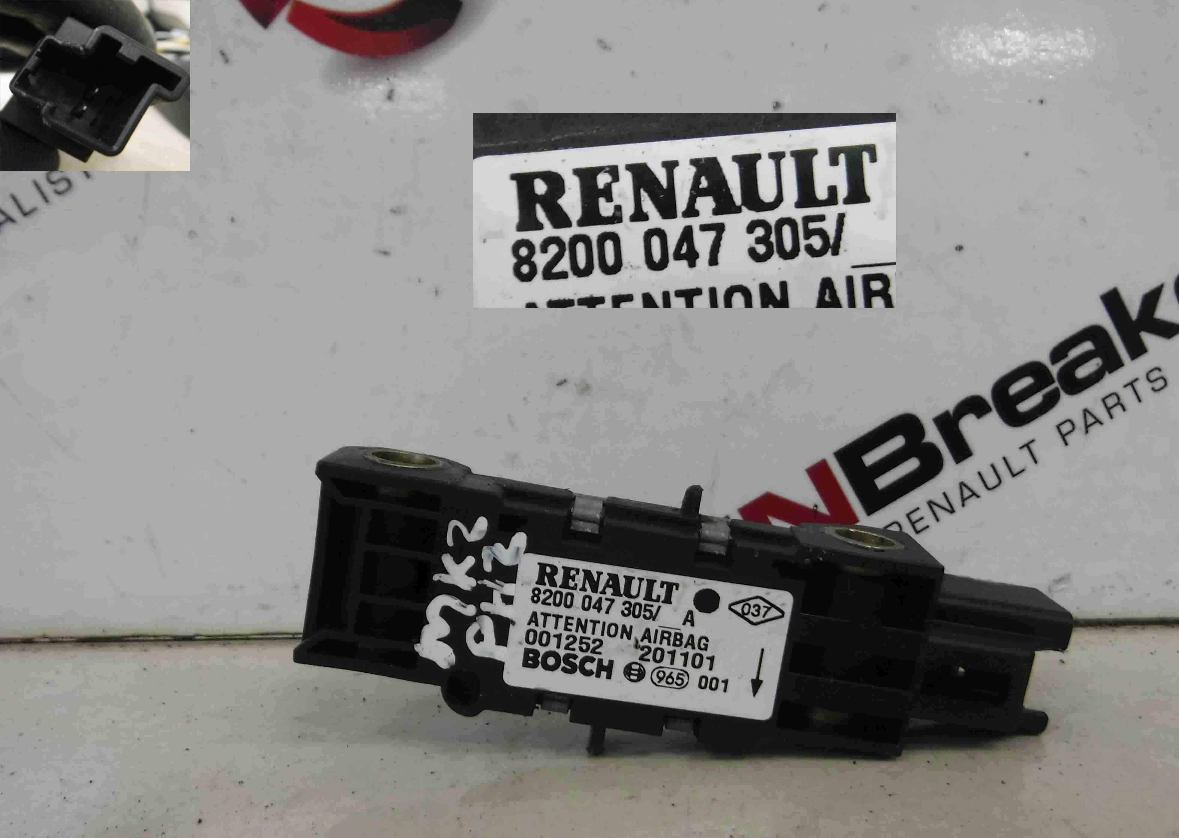 Renault Clio MK2 2001-2006 Airbag Impact Sensor 8200047305