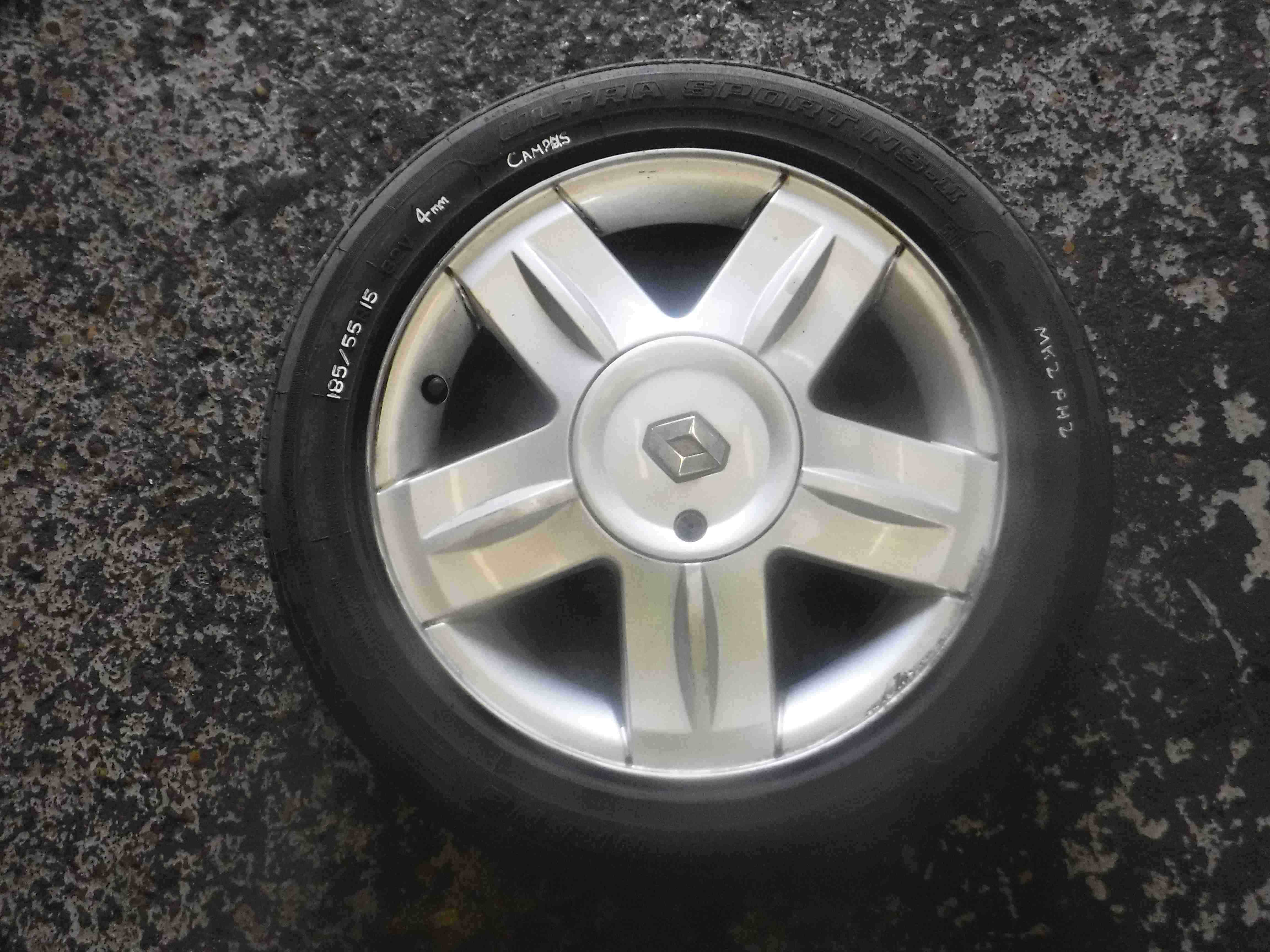 Renault Clio MK2 2001-2006 Alium Campus Alloy Wheel 3/5 Needs New Tyre