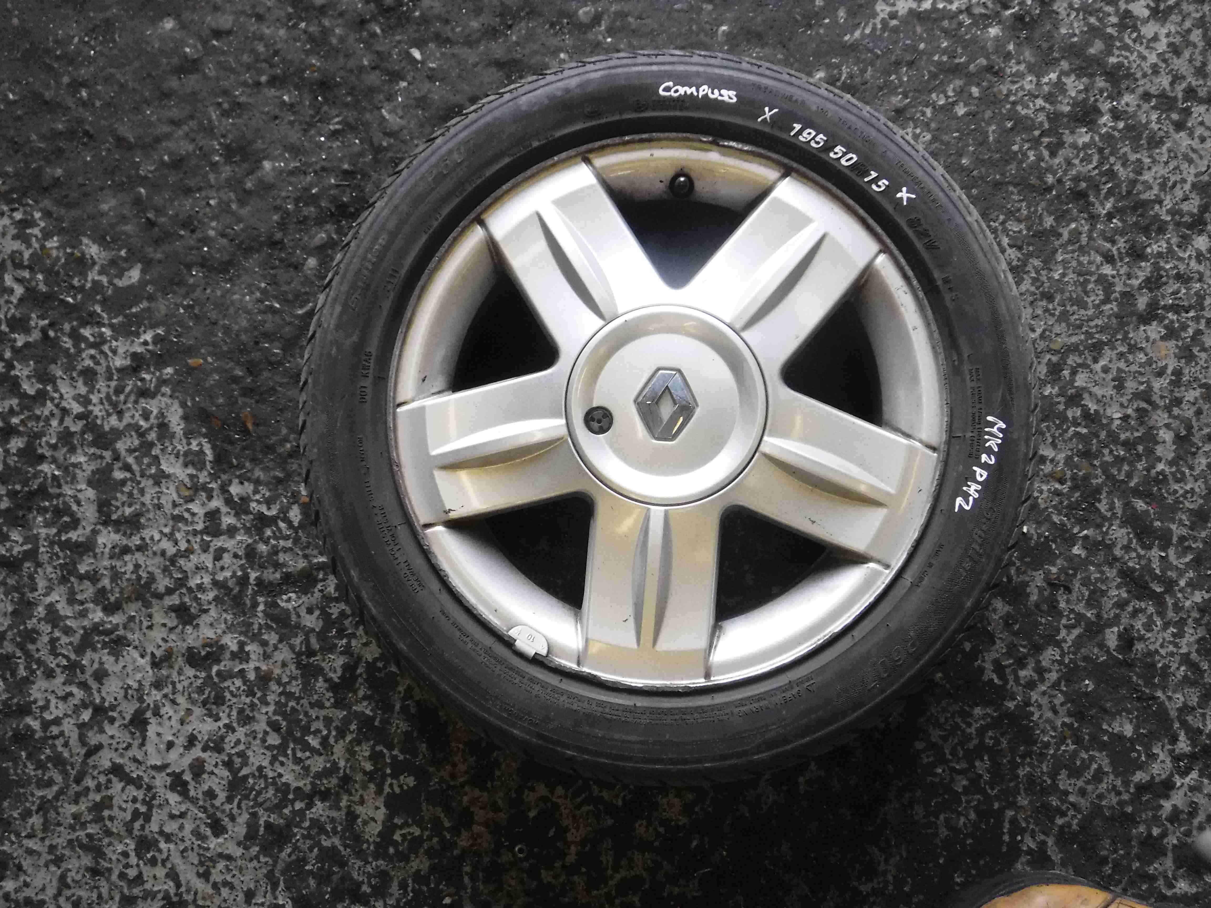 Renault Clio MK2 2001-2006 Campus Alium Alloy Wheel 15inch 3/5