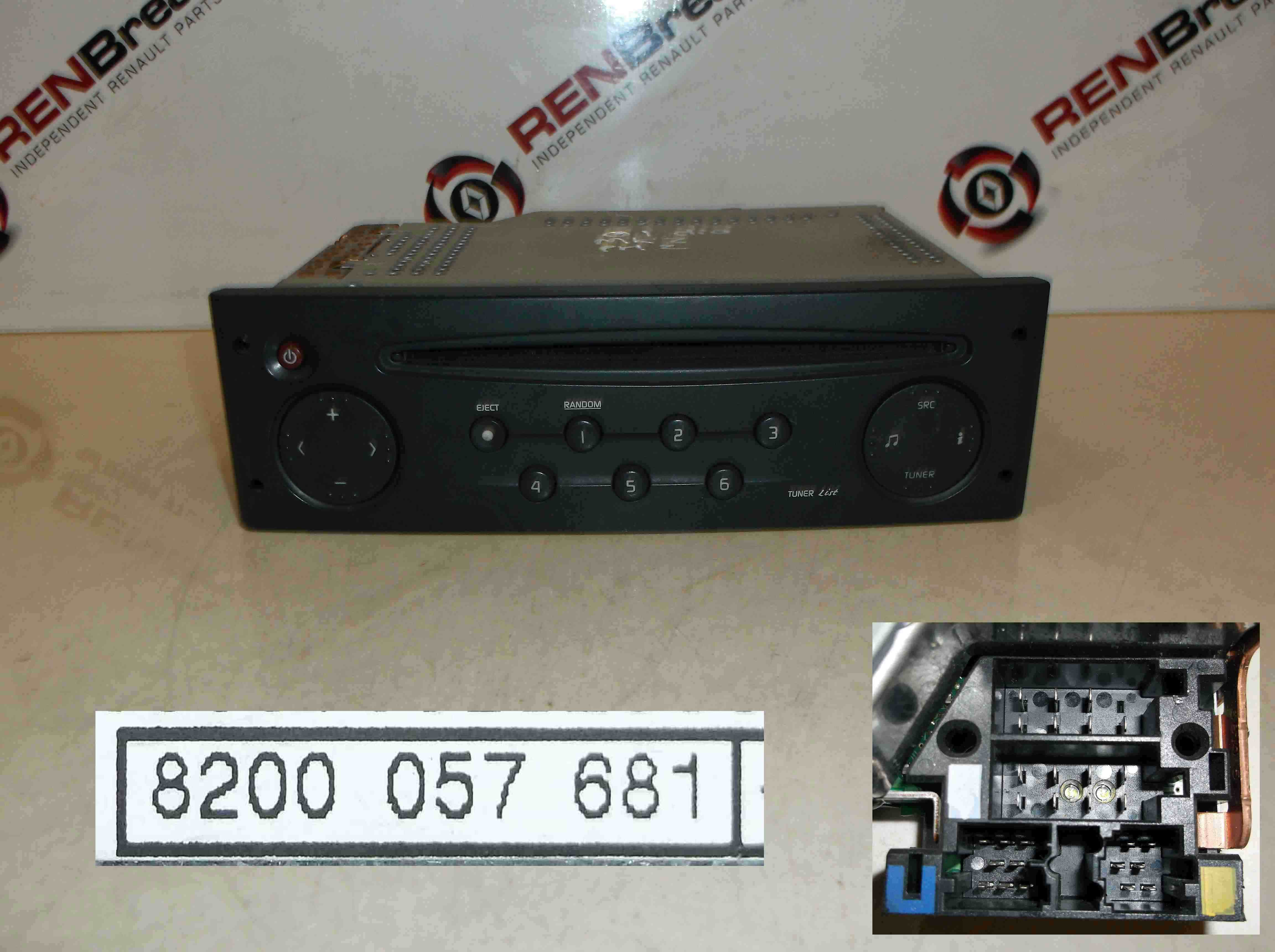 Renault Clio MK3 2005-2009 CD Player Radio Tuner List + Code 8200057681