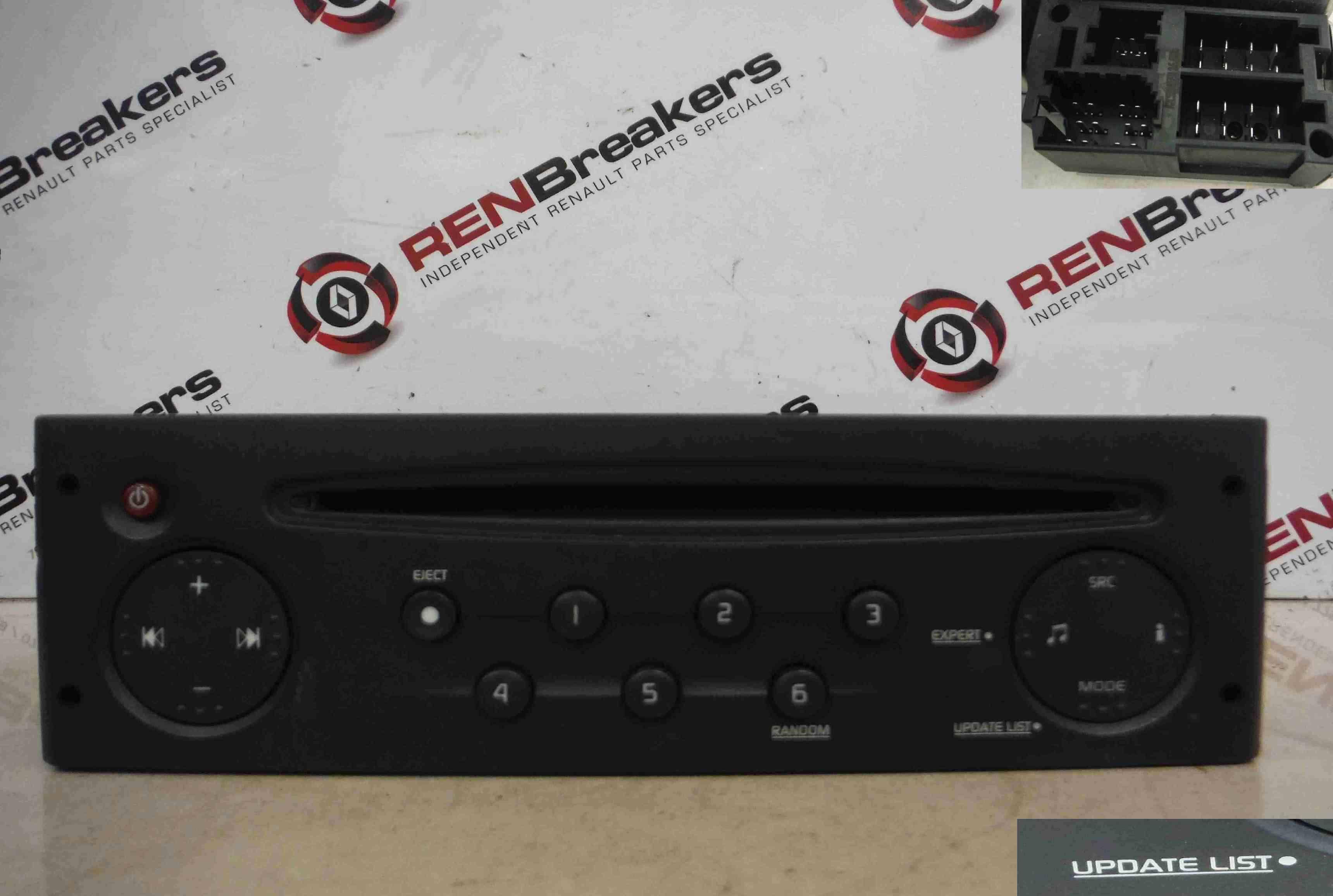 Renault Clio MK2 2001-2006 Radio CD Player Update List  Code 8200633621
