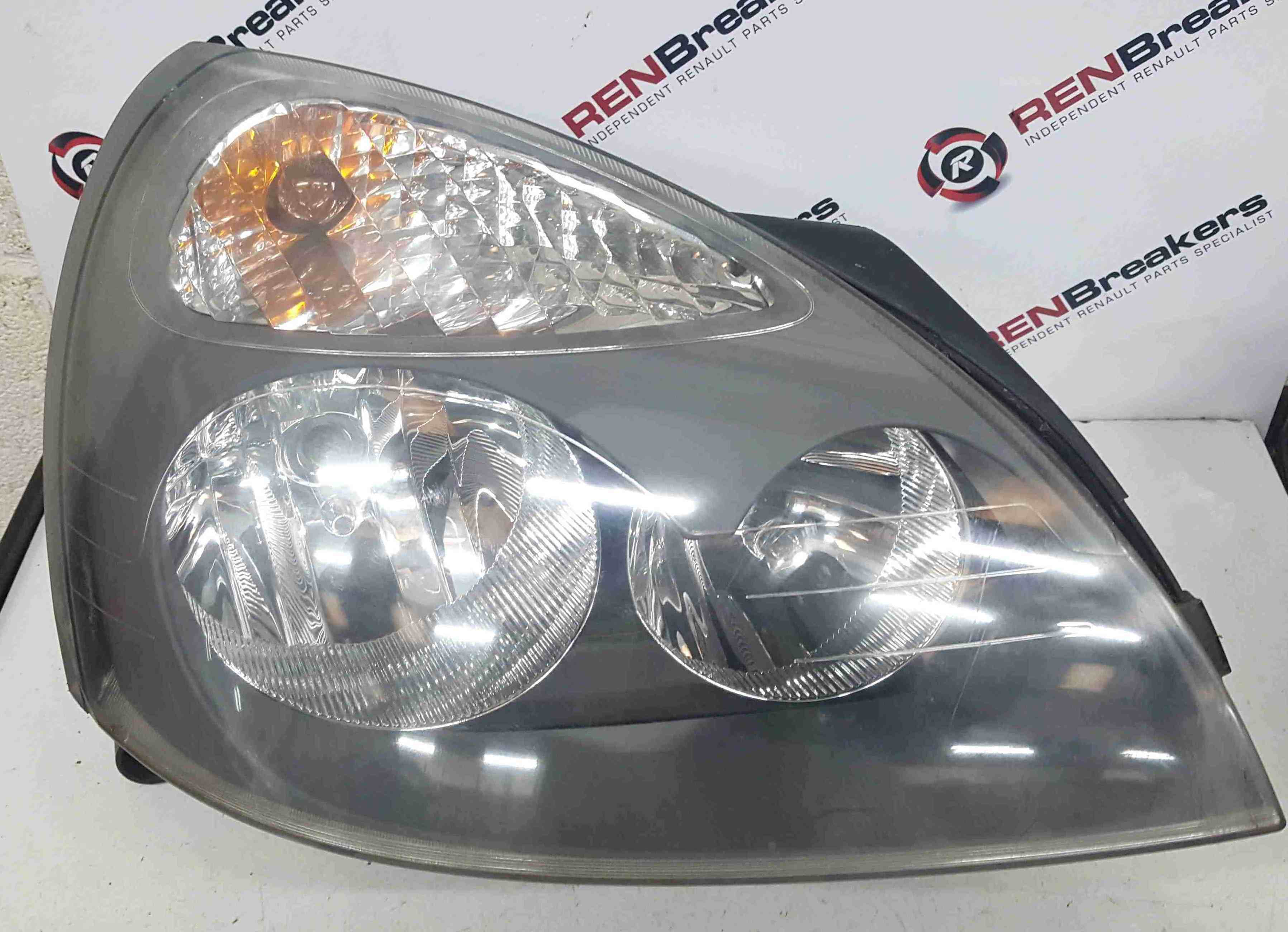 Renault Clio MK2 2001-2006 Drivers OSF Front Headlight Grey Backing 8200478987J