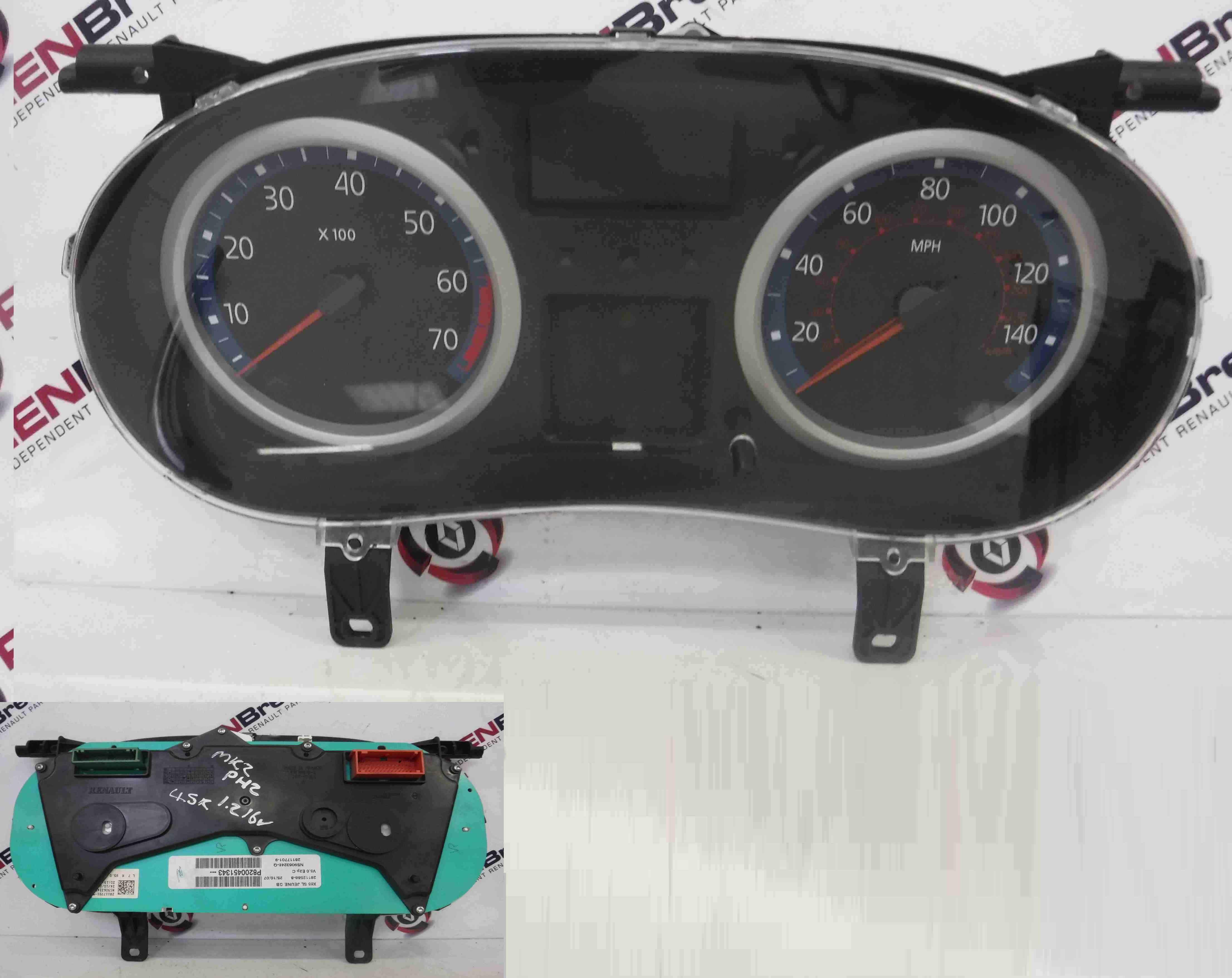 Renault Clio MK2 2001-2006 Instrument Panel Clocks Gauges 8200451343