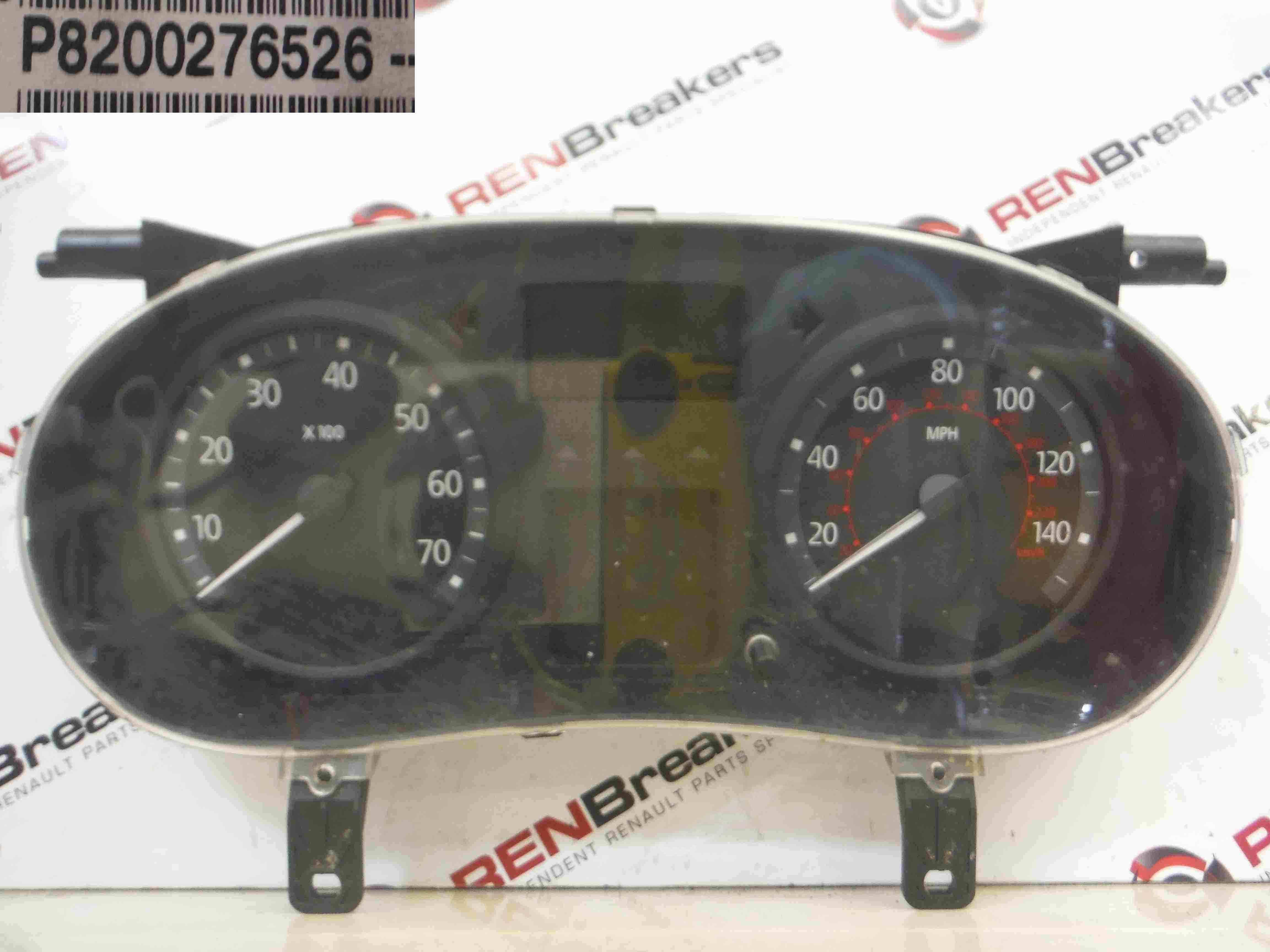 Renault Clio MK2 2001-2006 Instrument Panel Dials Clocks Gauges 126K 8200276526
