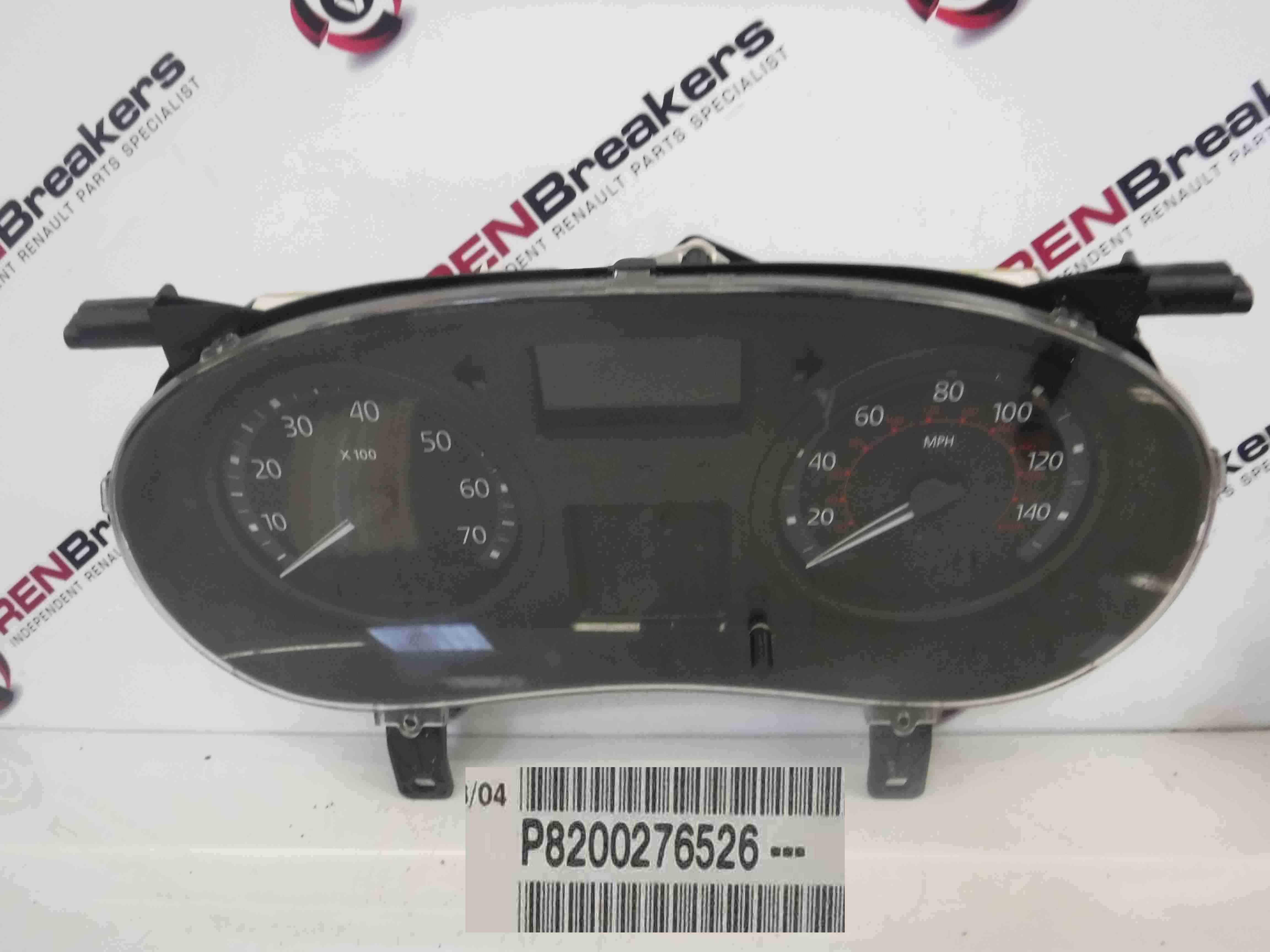 Renault Clio MK2 2001-2006 Instrument Panel Dials Gauges Clocks 117K 8200276526