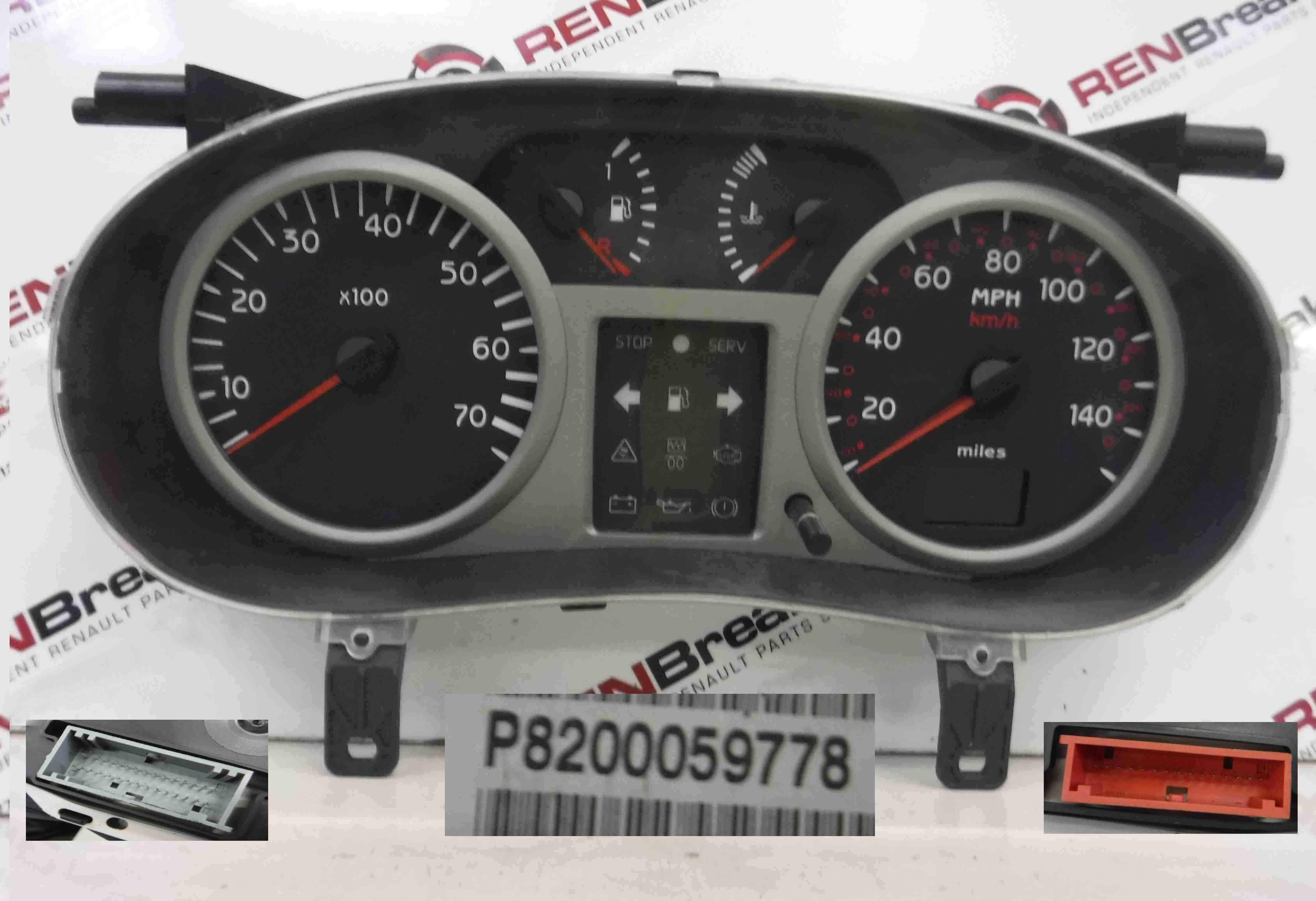 Renault Clio MK2 2001-2006 Instrument Panel Dials Gauges Clocks 143K 8200059778