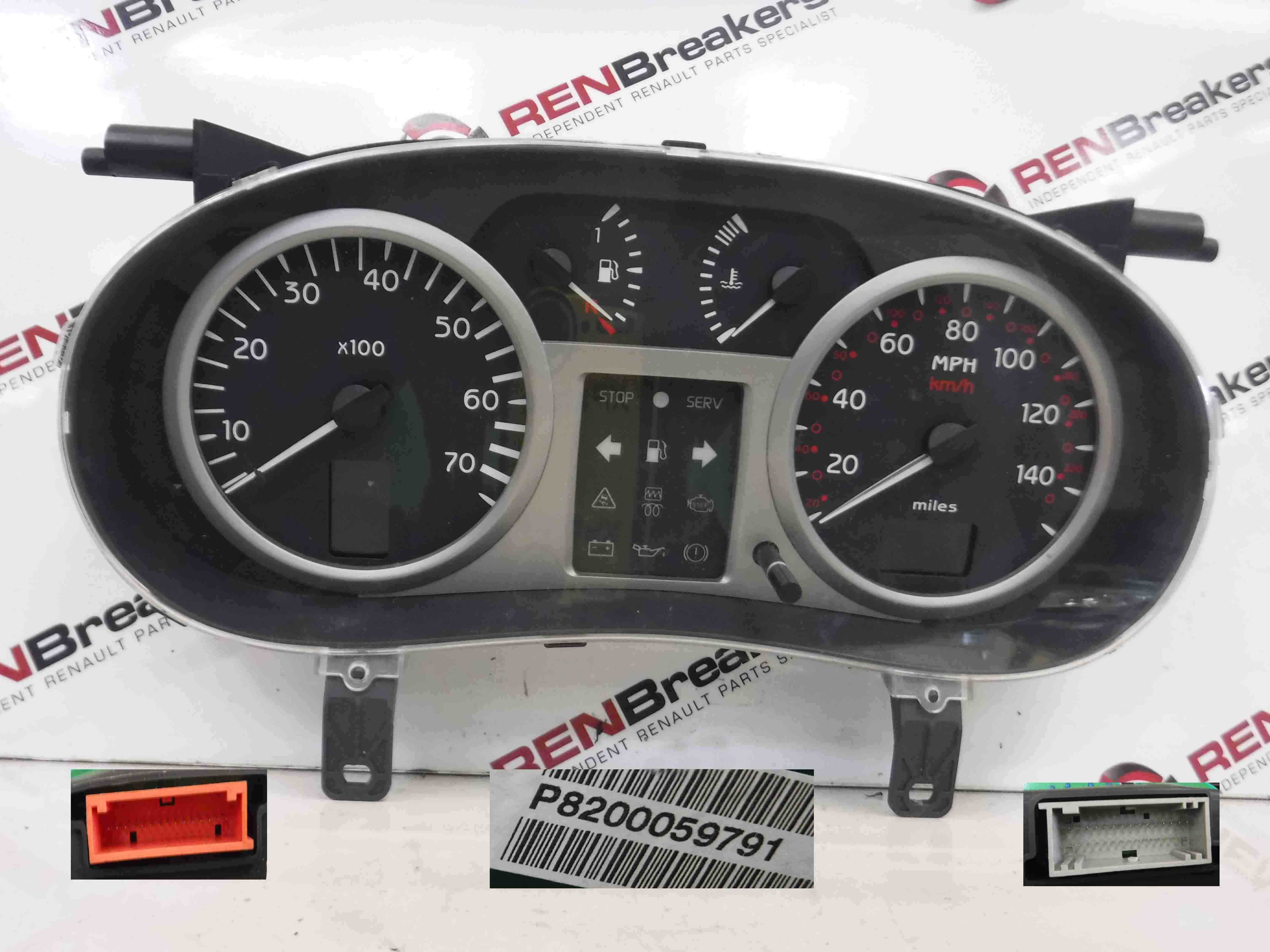 Renault Clio MK2 2001-2006 Instrument Panel Dials Gauges Clocks Automatic